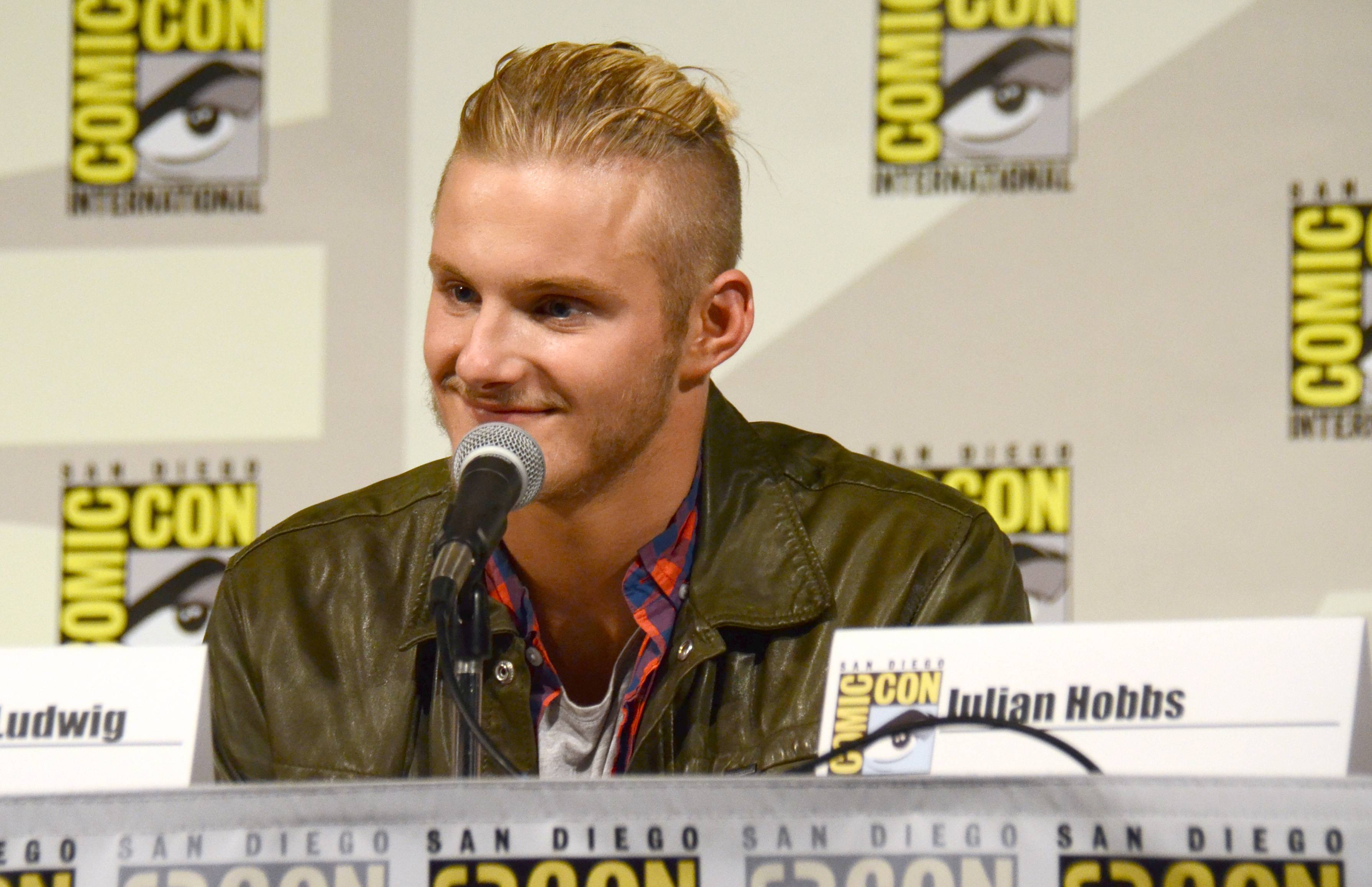 "Alexander Ludwig attends the ""Vikings"" panel on Day 2 of Comic-Con International on Friday."