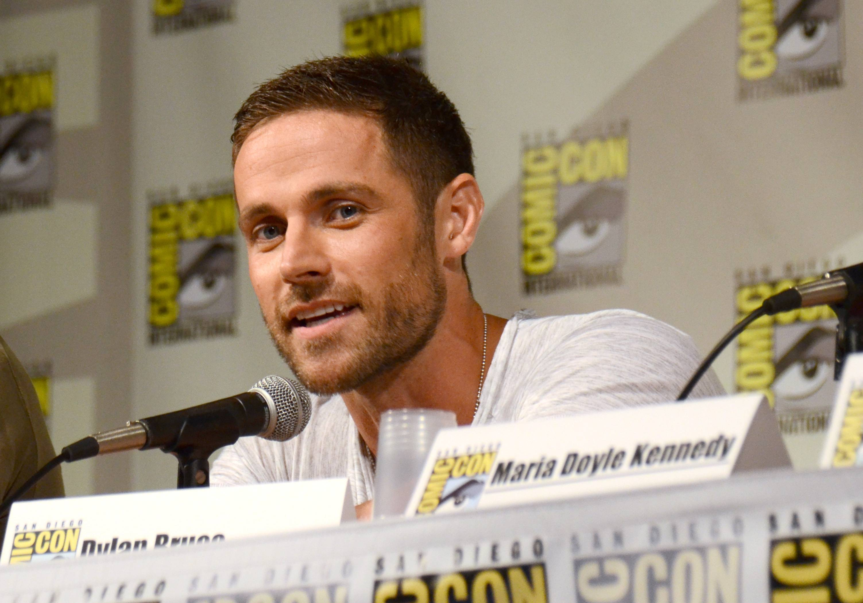 "Dylan Bruce attends the ""Orphan Black"" panel on Day 2 of Comic-Con International on Friday."