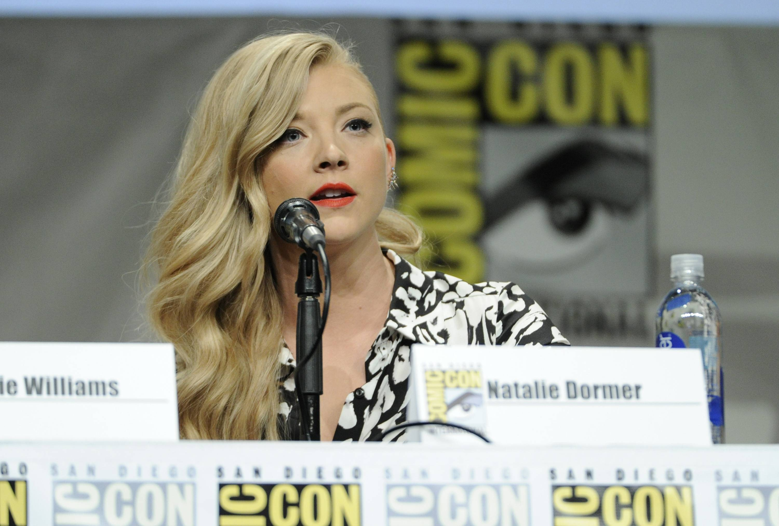 Natalie Dormer attends an Entertainment Weekly panel on Day 3 of Comic-Con International on Saturday.