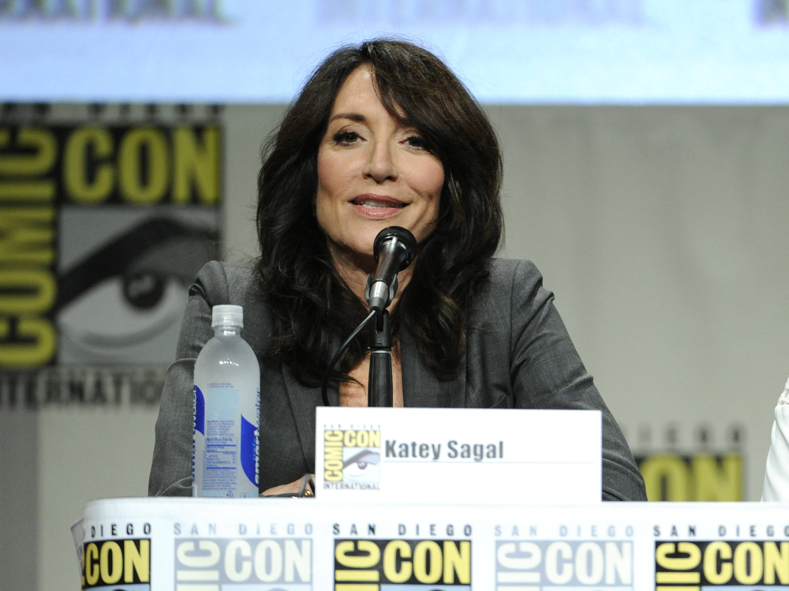 Katey Sagal attends an Entertainment Weekly panel on Day 3 of Comic-Con International on Saturday.