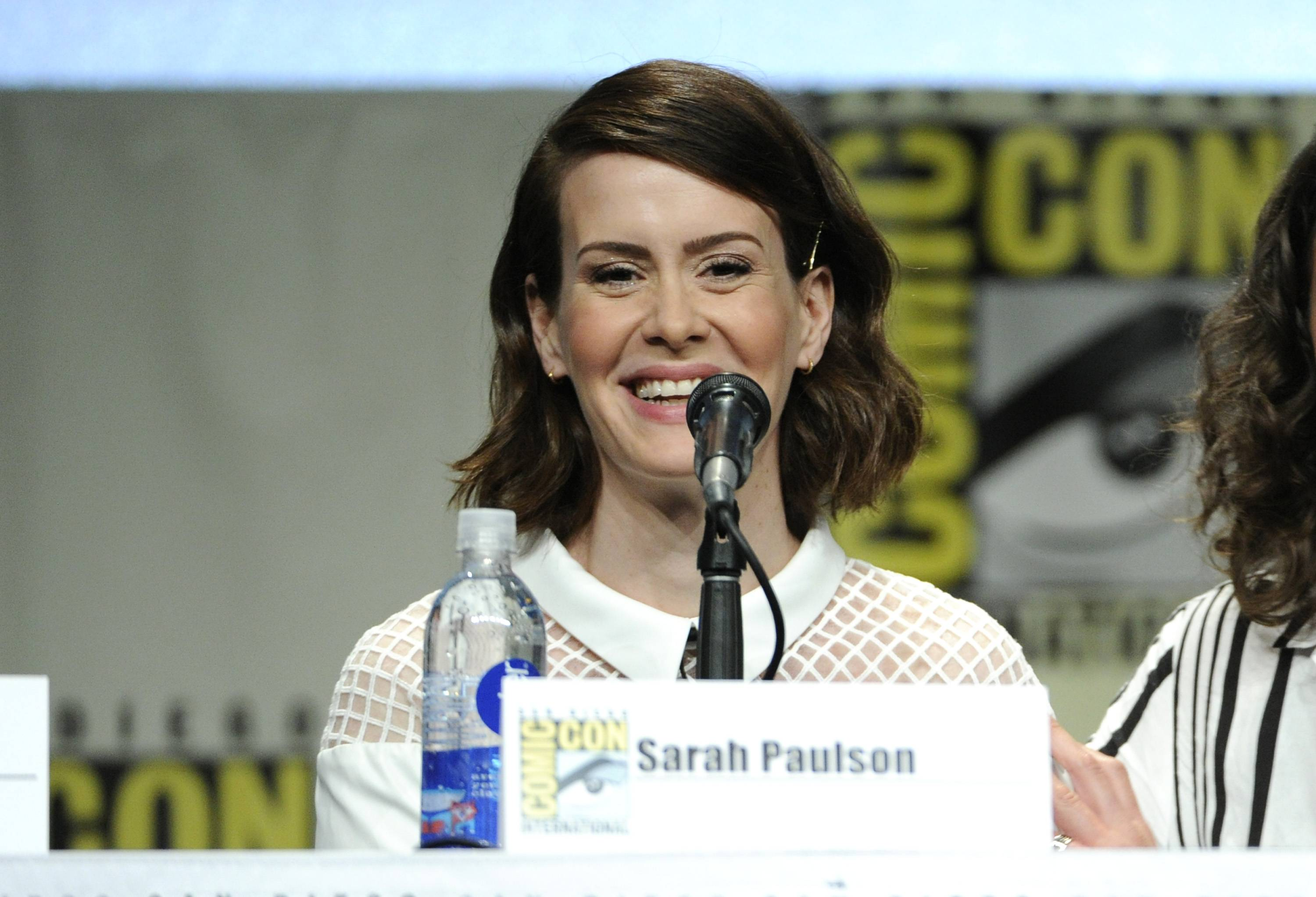 Sarah Paulson attends an Entertainment Weekly panel on Day 3 of Comic-Con International on Saturday.