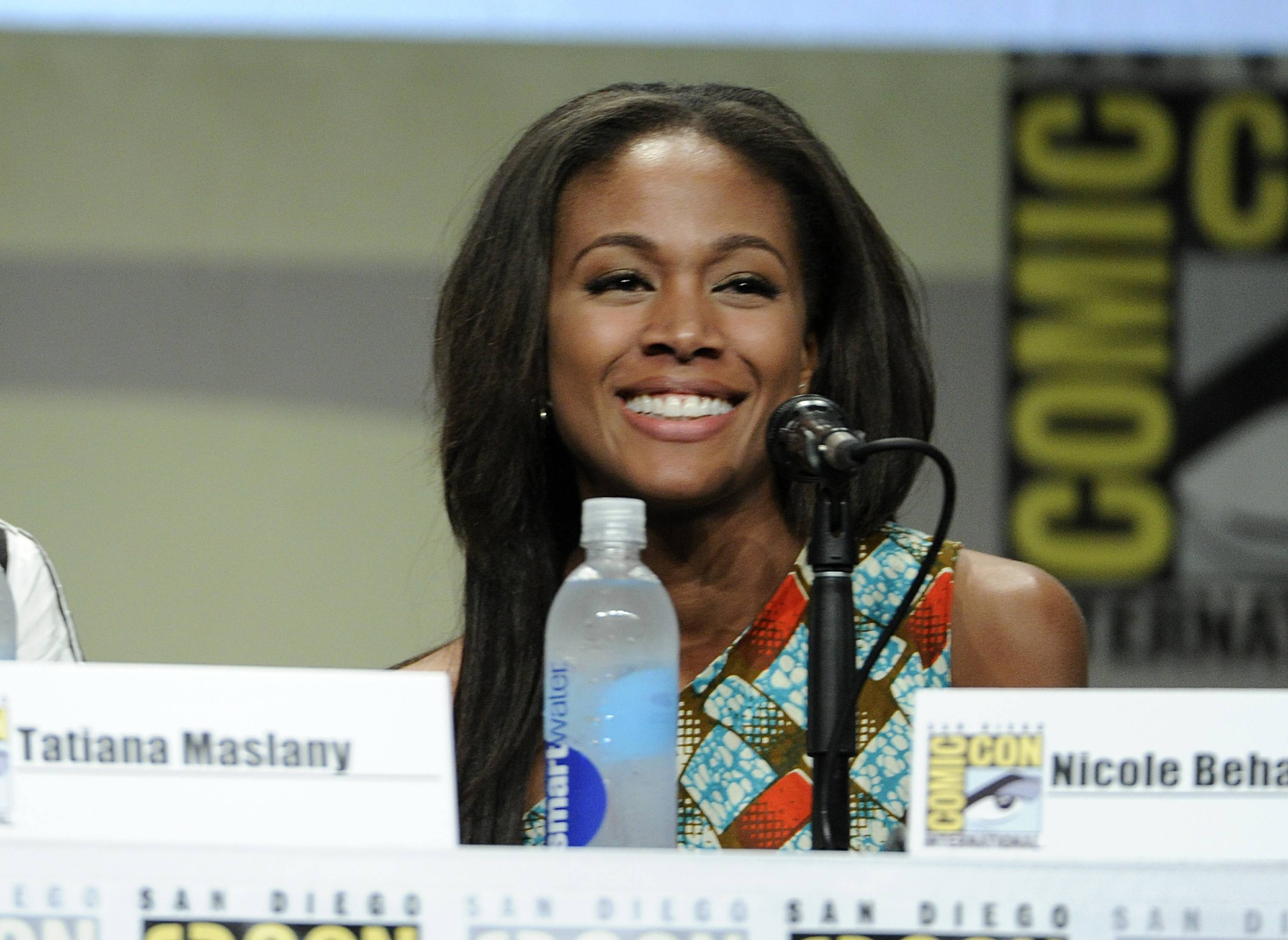 Nicole Beharie attends an Entertainment Weekly panel on Day 3 of Comic-Con International on Saturday.