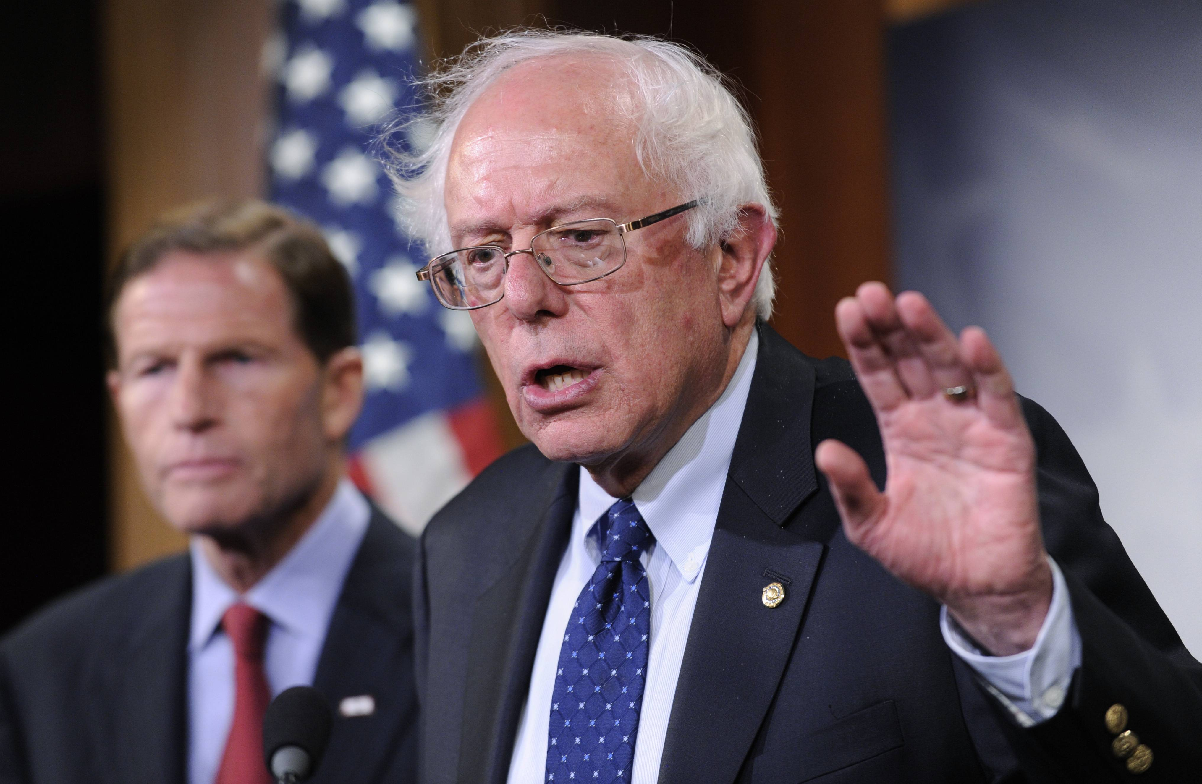 Sen. Bernie Sanders, seen here, and House Veterans Affairs Committee Chairman Jeff Miller have reached a tentative agreement on a plan to fix a veterans' health program scandalized by long patient wait times and falsified records covering up delays.