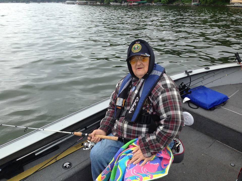 Edward Paprocki of Hoffman Estates served in the Army during the Korean War from 1952-1954. Paprocki attended the Take a Vet Fishing trip to Lake Waubesa on June 8.