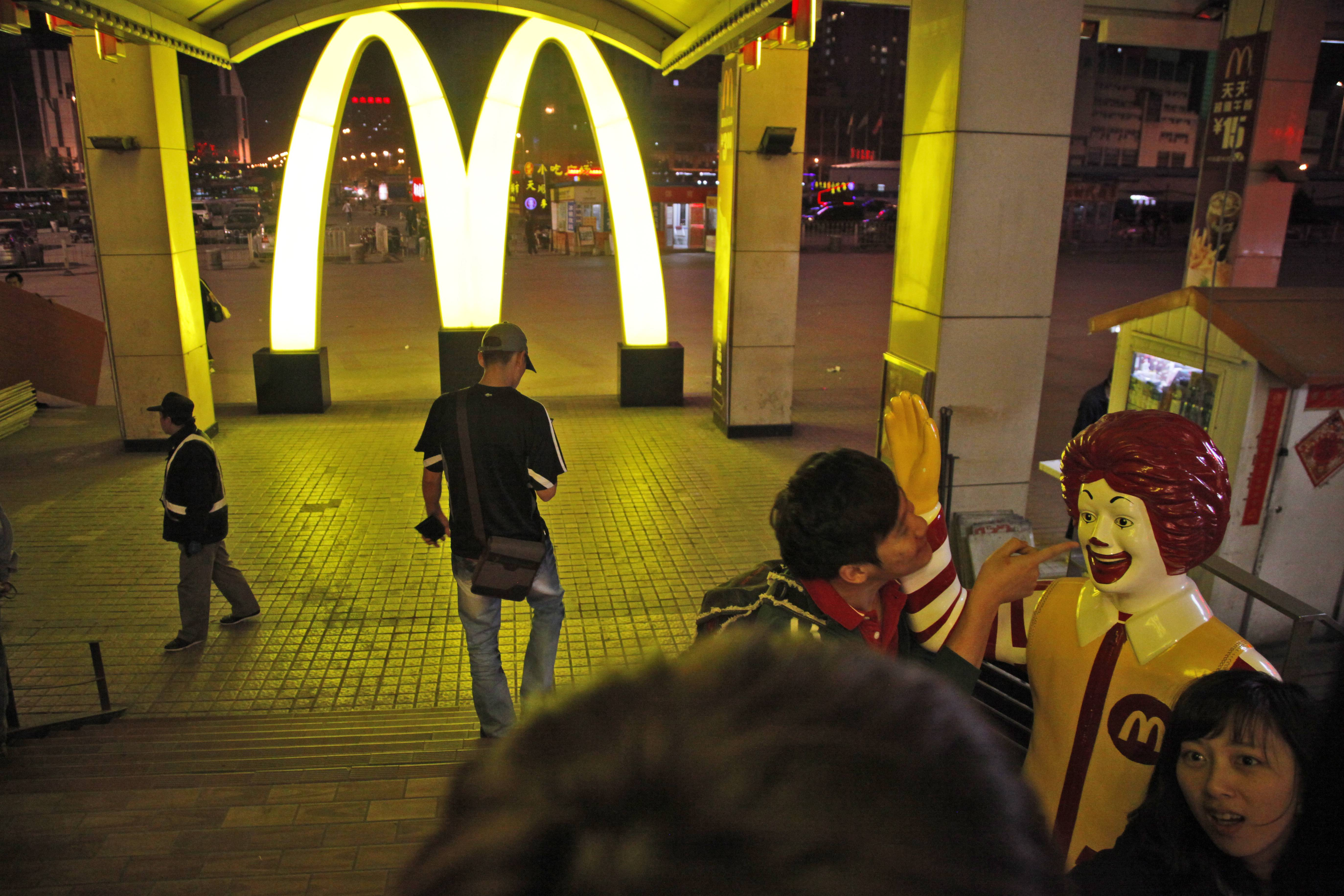 If you want a burger from McDonald's Corp. in China's biggest cities, you'll have to get one made from fish.Beef, pork and chicken items were eliminated at the U.S.- based chain, after supplier OSI Group LLC recalled all products made at its Shanghai unit yesterday. Aurora,-based OSI, which supplies customers including McDonald's and KFC owner Yum! Brands Inc., is accused of repackaging old meat as new.
