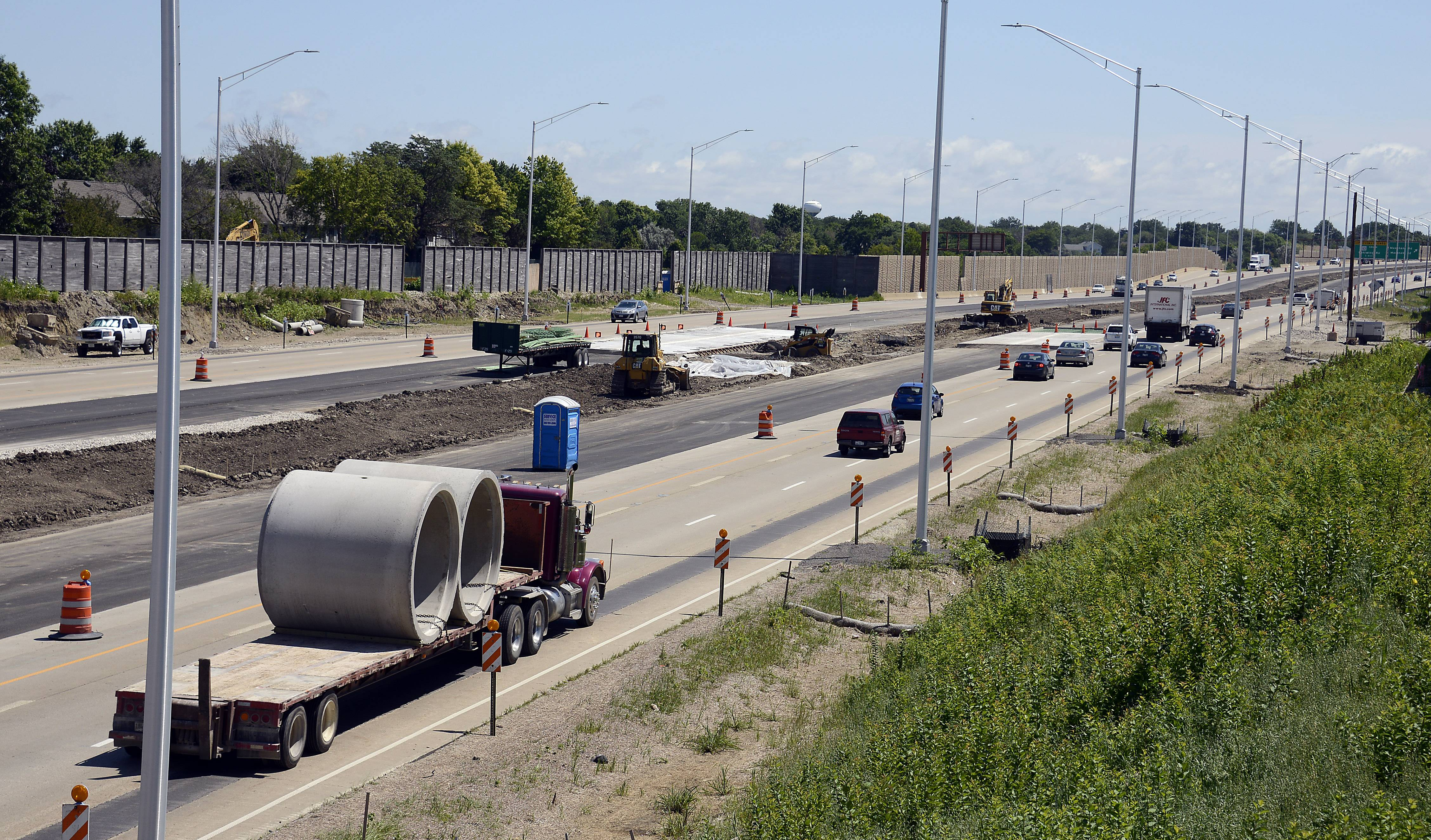 The new expressway near Interstate 290 and the Elgin-O'Hare has traffic in that area at a standstill during rush hour.