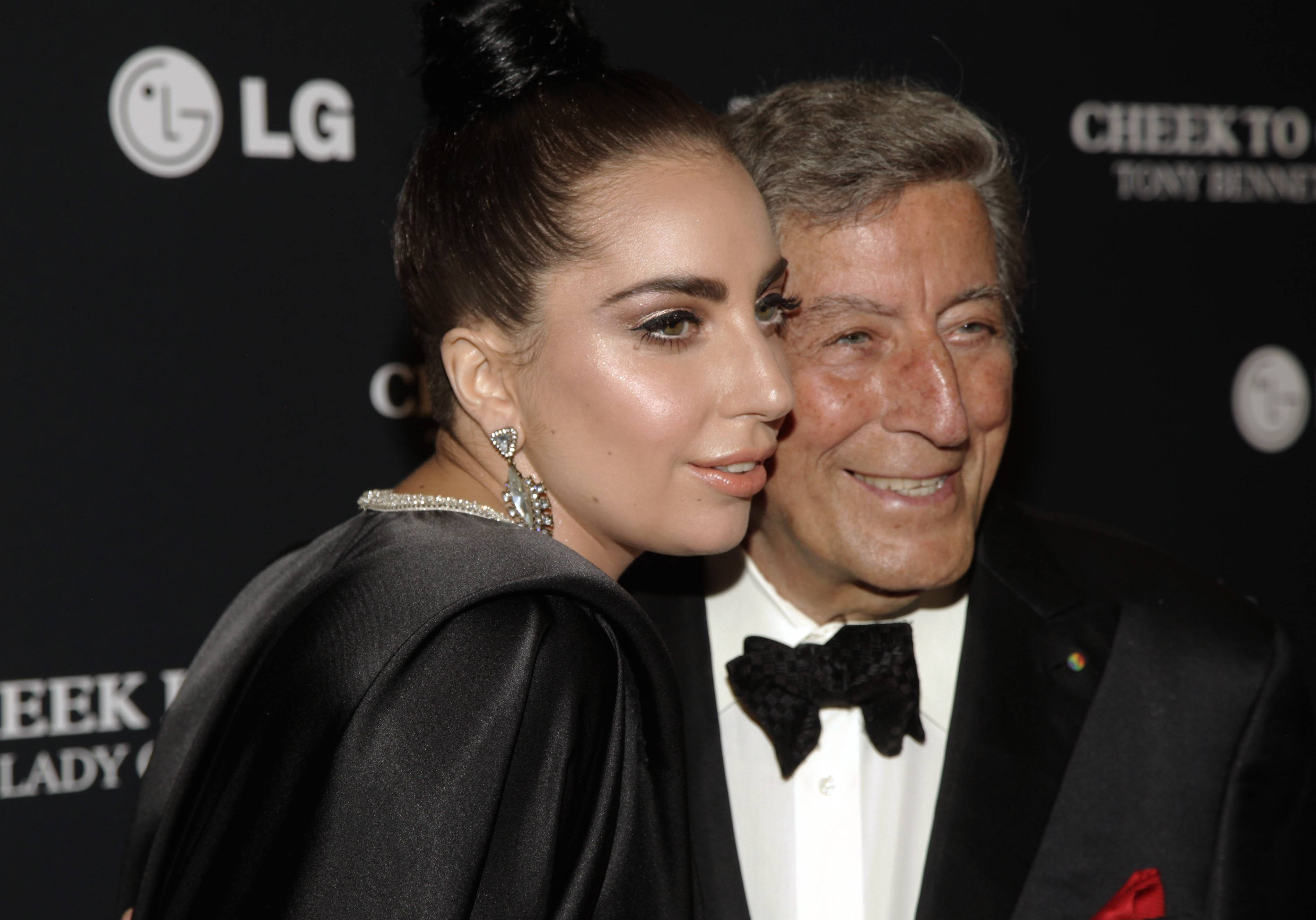 "Lady Gaga and Tony Bennett spent two years recording an album of jazz standards called ""Cheek to Cheek."""