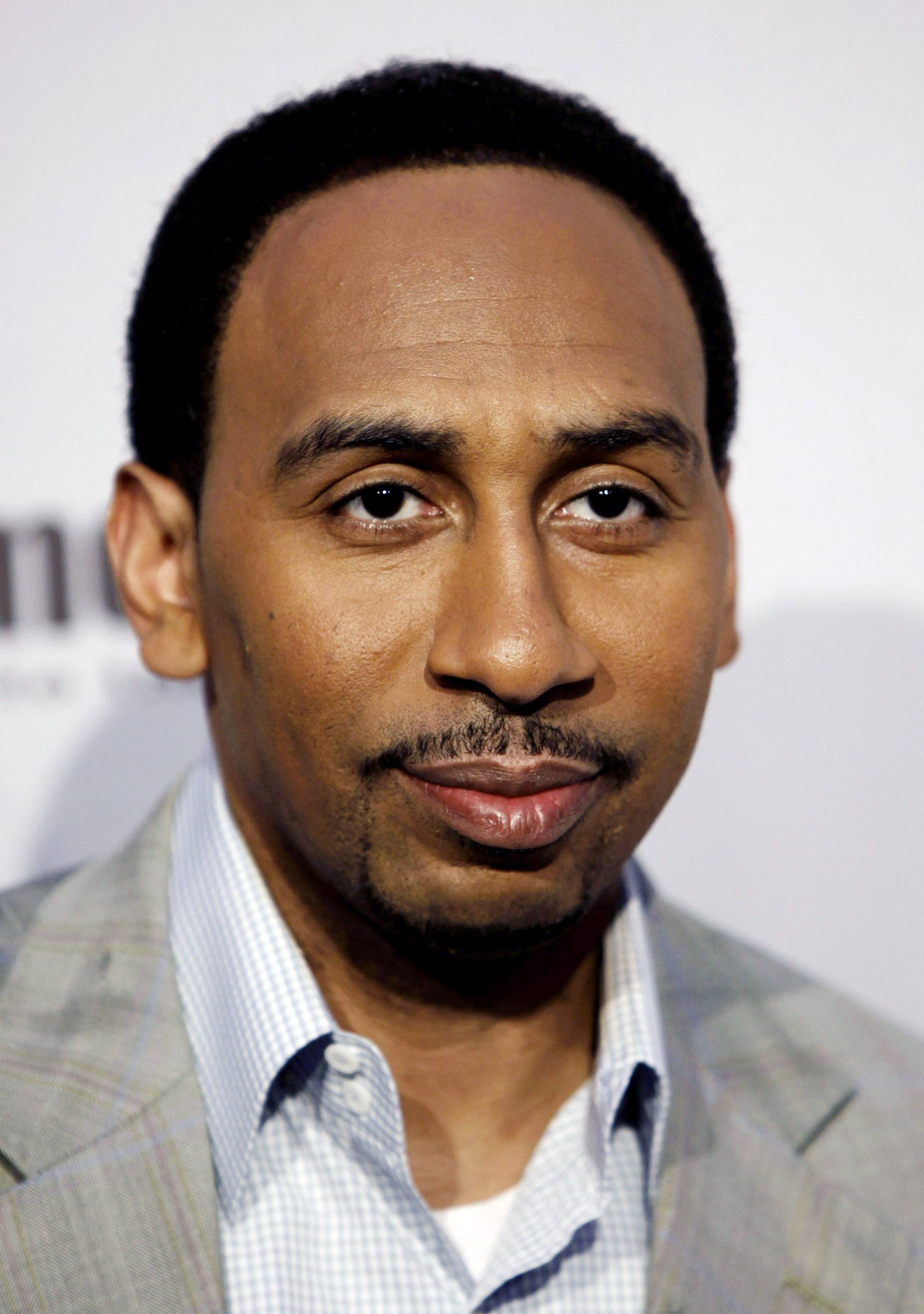 ESPN suspended sportscaster Stephen A. Smith on Tuesday for a week because of comments about domestic abuse, suggesting women should make sure they don't provoke attacks.
