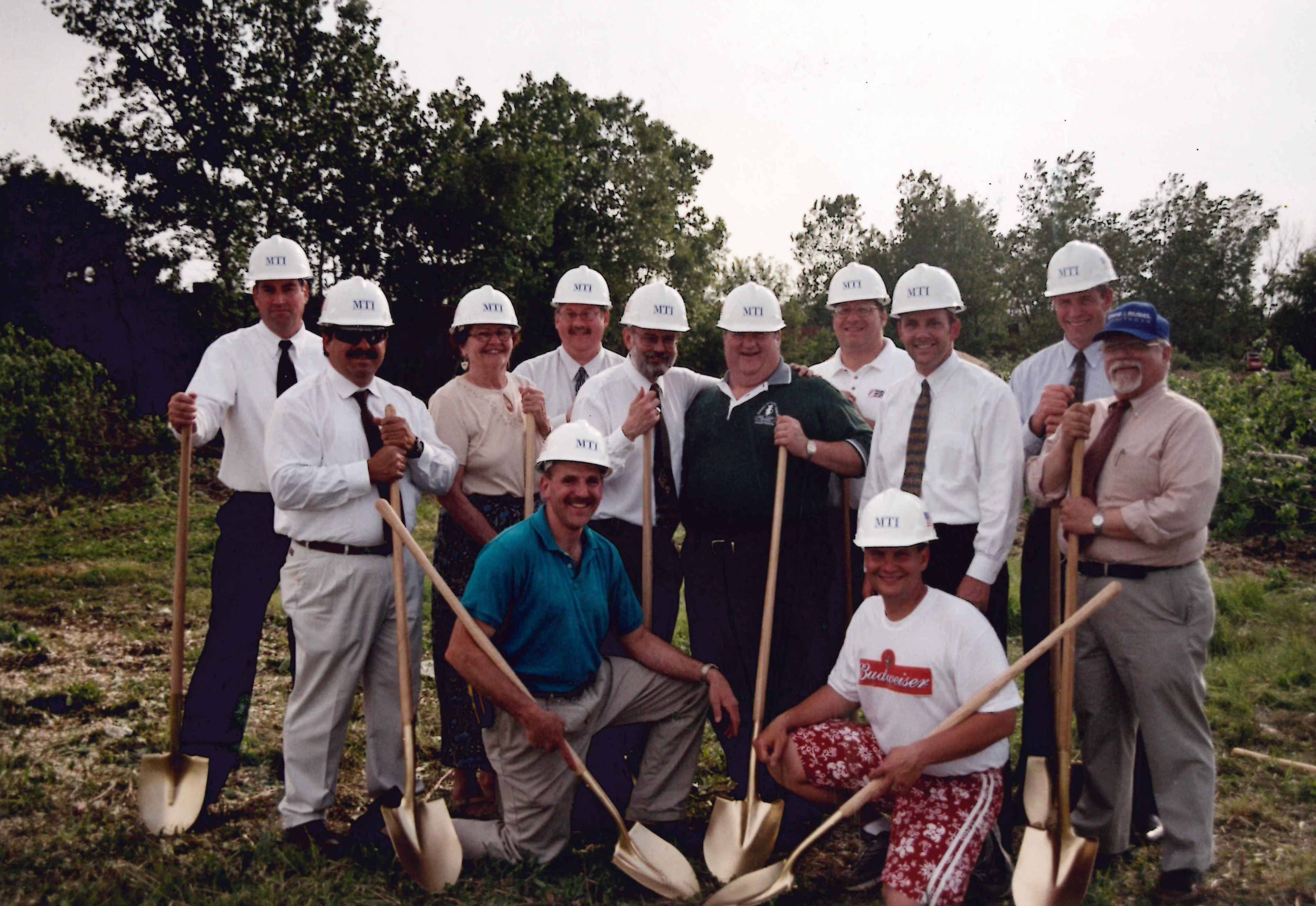 The groundbreaking ceremony for the Prairie Stone Sports & Wellness Center.