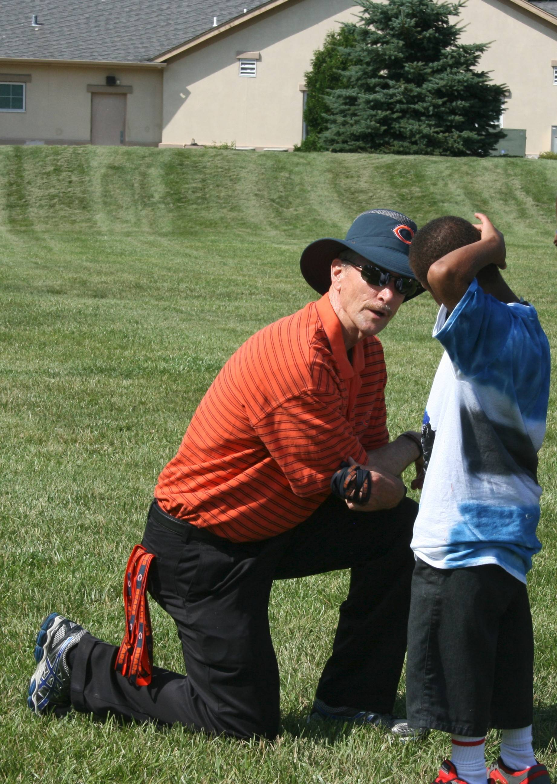 Chicago Bears Chairman George H. McCaskey helped out with the Allendale Association's Summer Olympics recently.