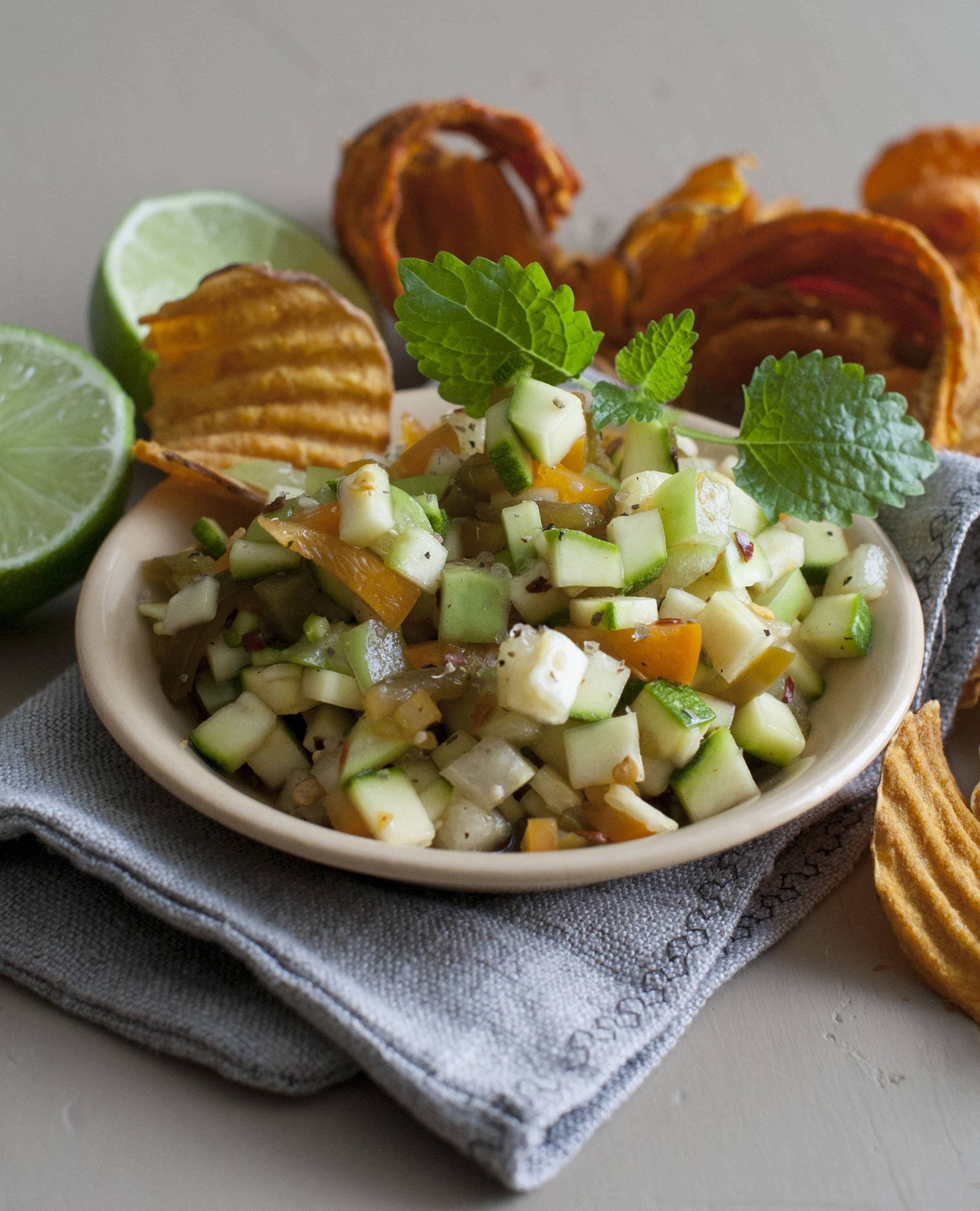 Zucchini salsa is a different way to use the prolific summer vegetable.