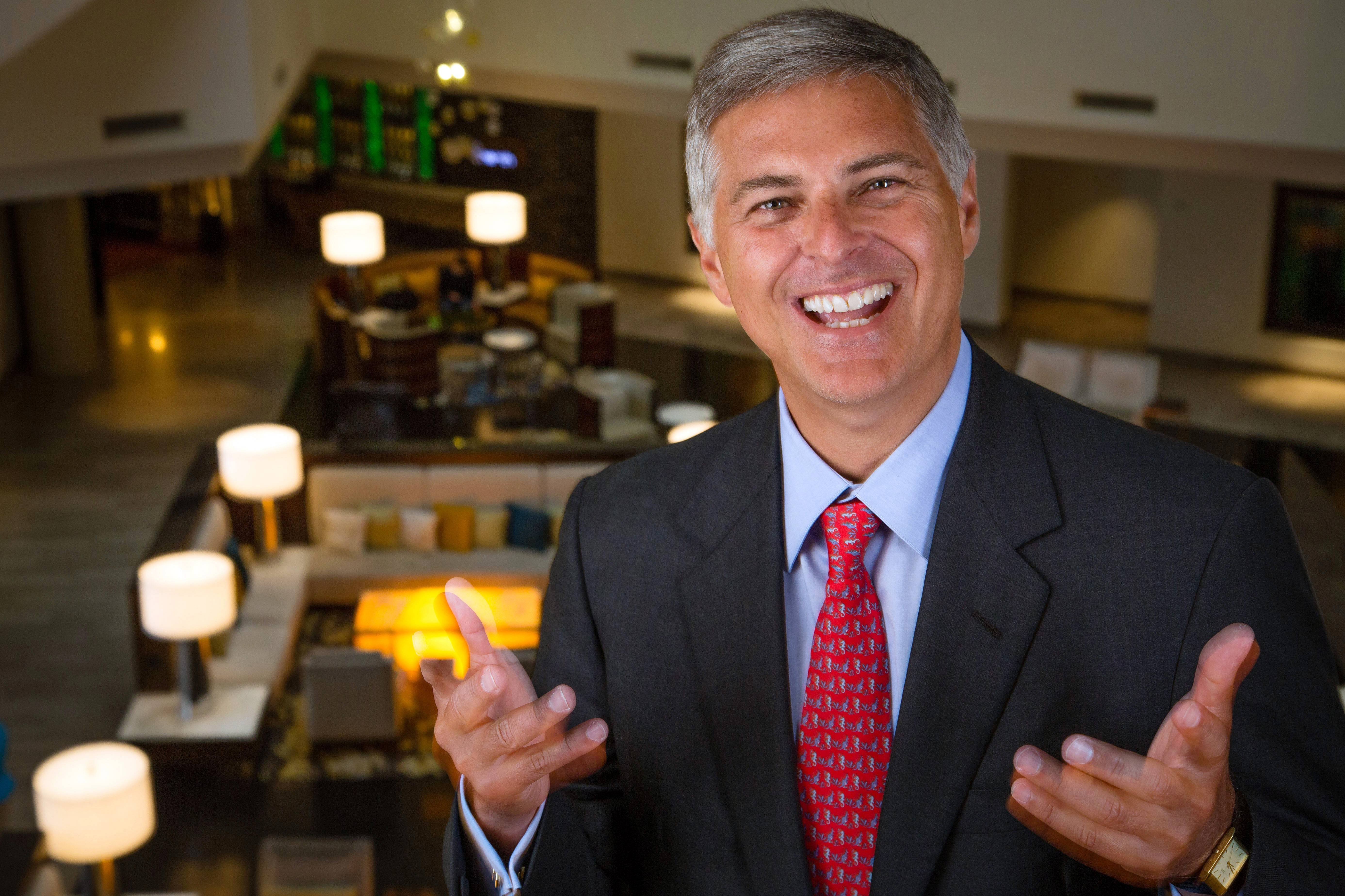 Hilton CEO Chris Nassetta in the Hilton Tysons Corner Hotel in McLean, Va. When Nassetta took over as CEO in 2007, Hilton lagged behind other hoteliers. Today, Hilton Worldwide is the largest hotelier in the world, by rooms, with 679,000 rooms.
