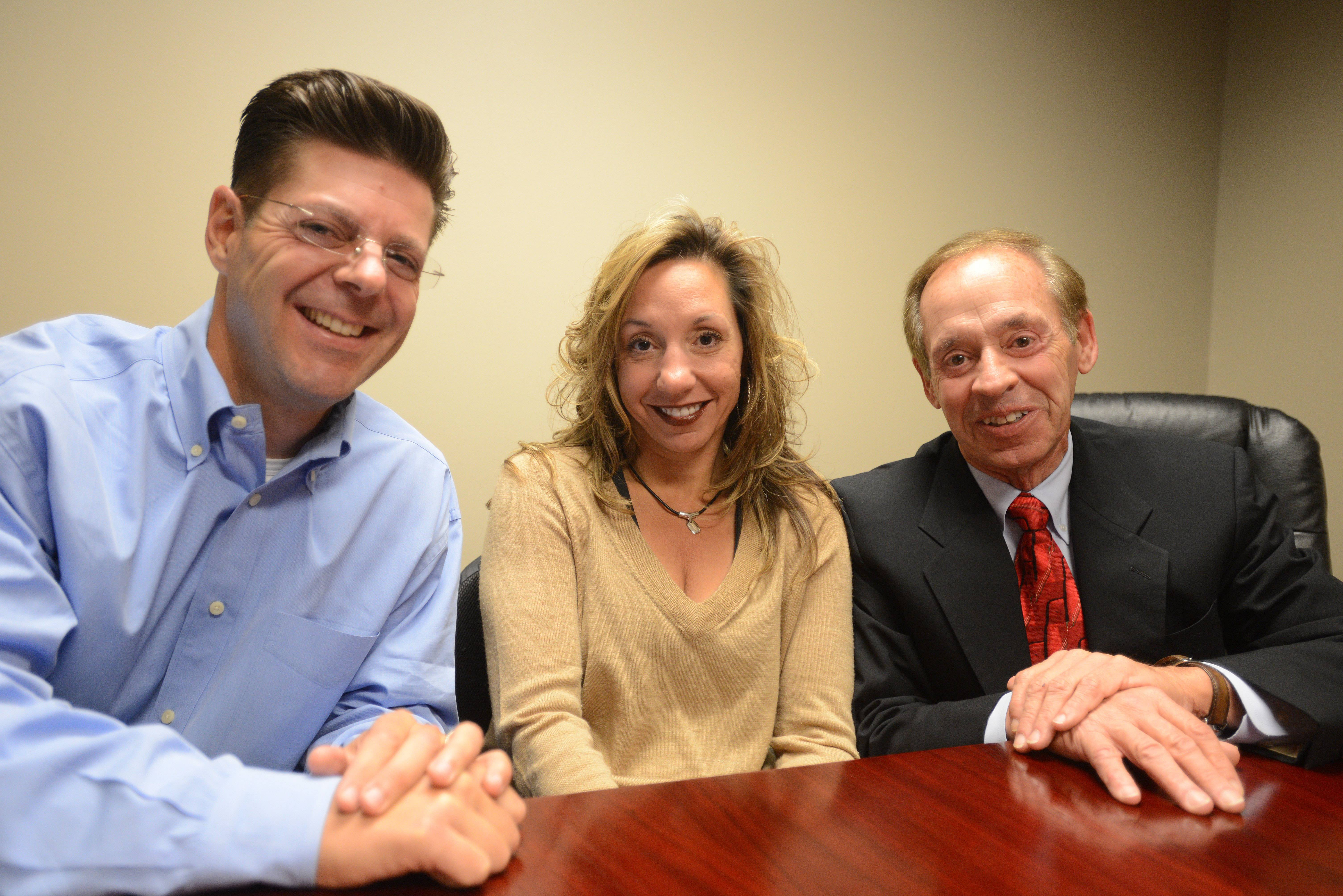 Hugo Fernandez, Traci Fernandez, and Will County Circuit Judge Robert Livas are three of the four founders of 3C Compassionate Care Centers, which plans to open medical marijuana dispensaries in Naperville and Joliet.