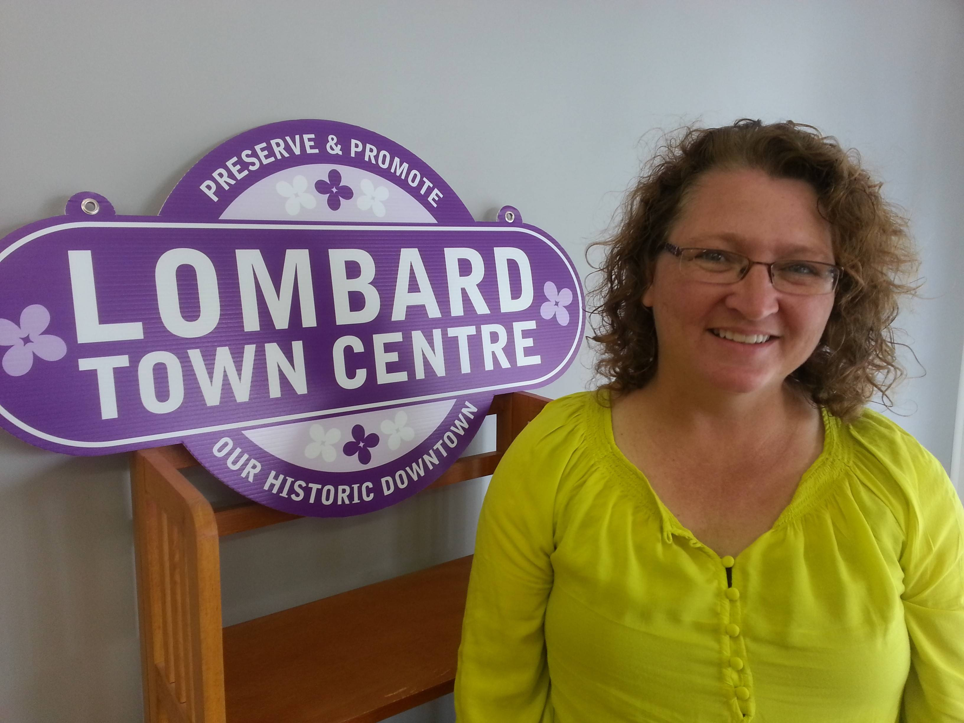 Sarah Richardt, executive director of Lombard Town Centre, says she's pleased with progress the downtown business promotion organization has made since she assumed her role last August.