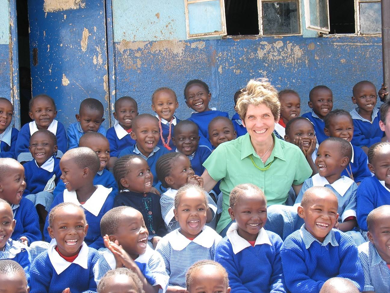 Kathy Cathey, a music instructor and a member of All Souls Anglican Church in Wheaton, has visited children in Kinyago-Dandora School in Kenya seven times and says she learns about joy and gratitude from the children.