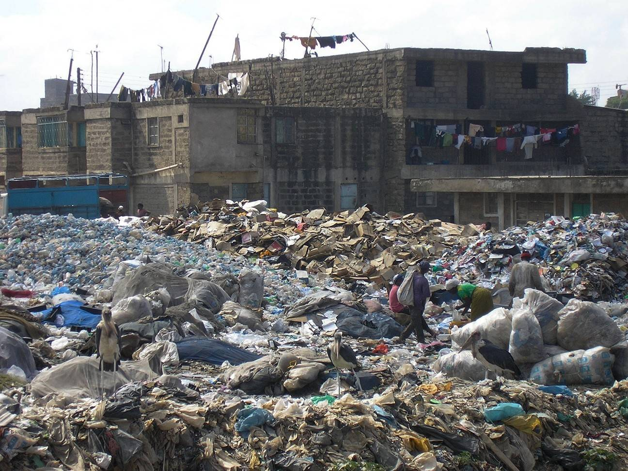 The dump in Nairobi's suburb of Dandora, Kenya, is home to thousands of people who pick through the trash daily to eke out a living.