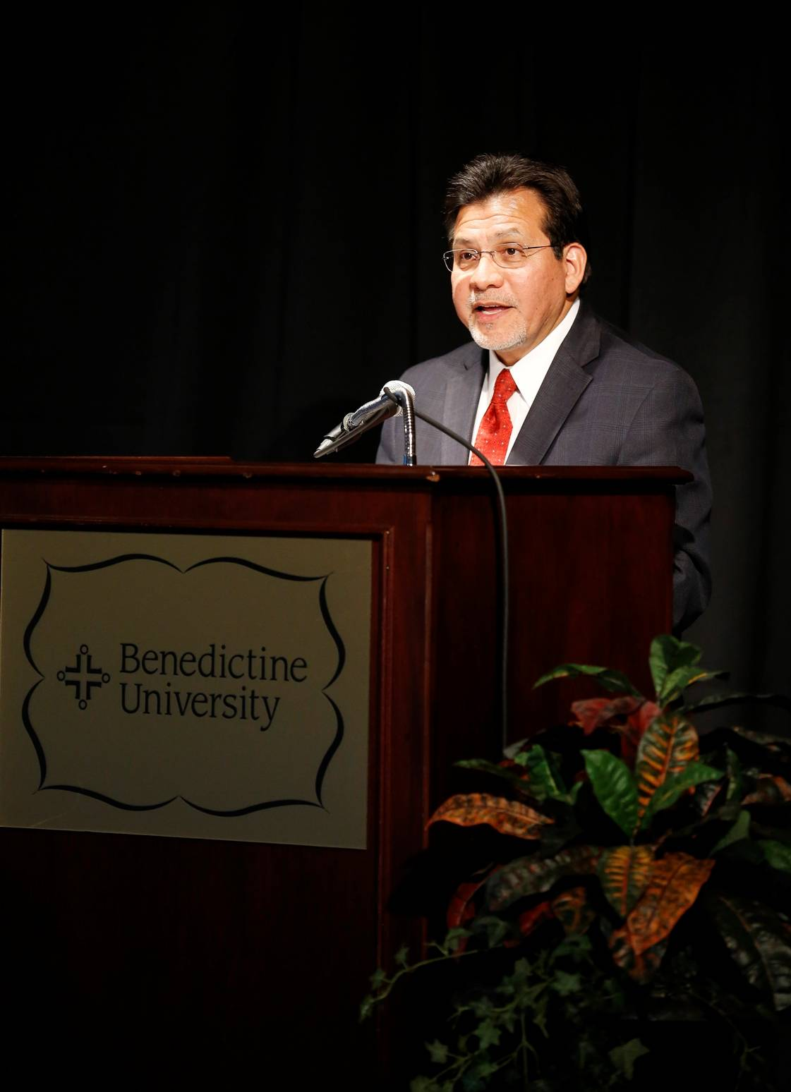 Former U.S. Attorney General Alberto Gonzales' speech at Benedictine University draws on experience protecting reputation of president, White House.Courtesy of Benedictine University