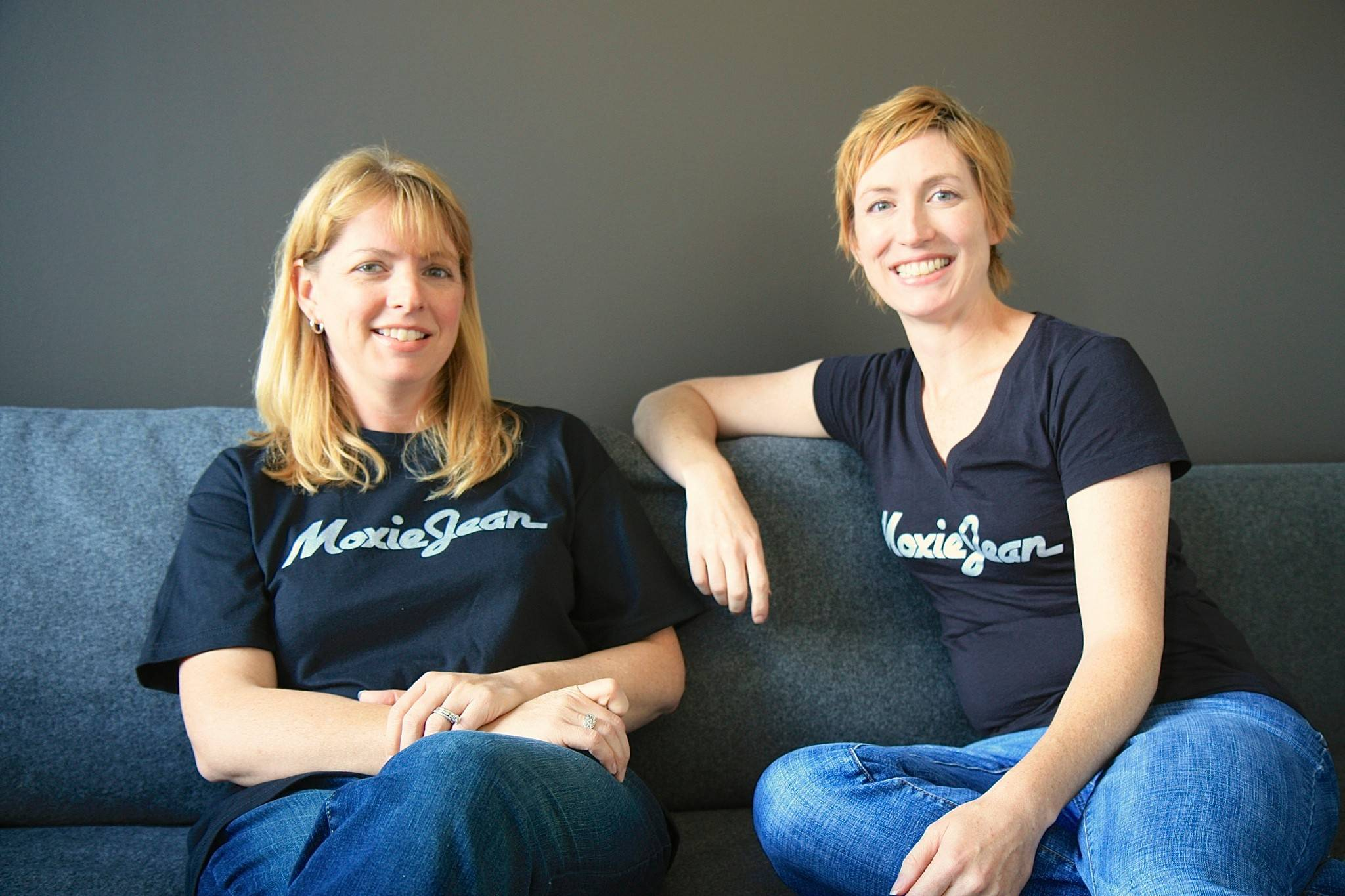 Sisters and co-founders of e-commerce site, Moxie Jean, are Sandra Pinter, at left, and Sharon Schneider. They each live in Mount Prospect and the resale site is based in Arlington Heights.