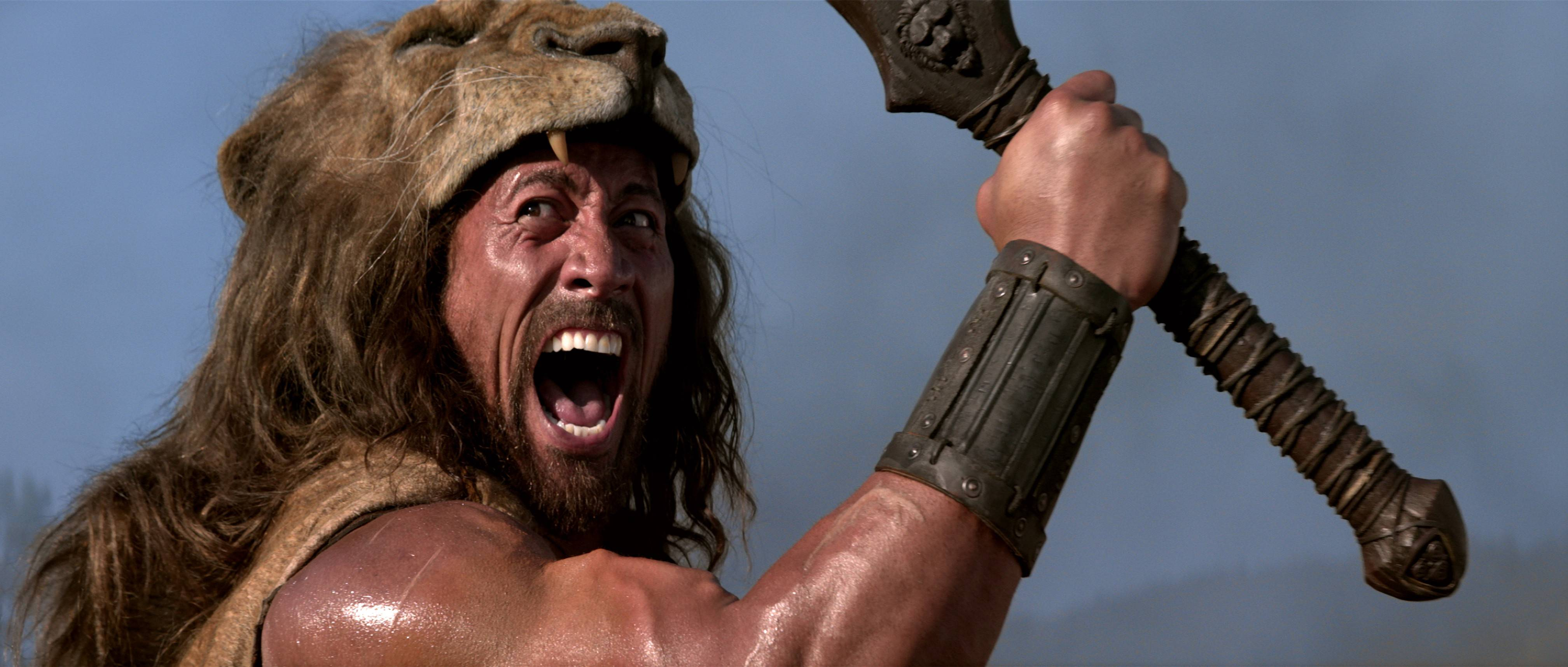 "Dwayne Johnson stars as ""Hercules"" with perfect white teeth, something presumably only demigods had in ancient times."