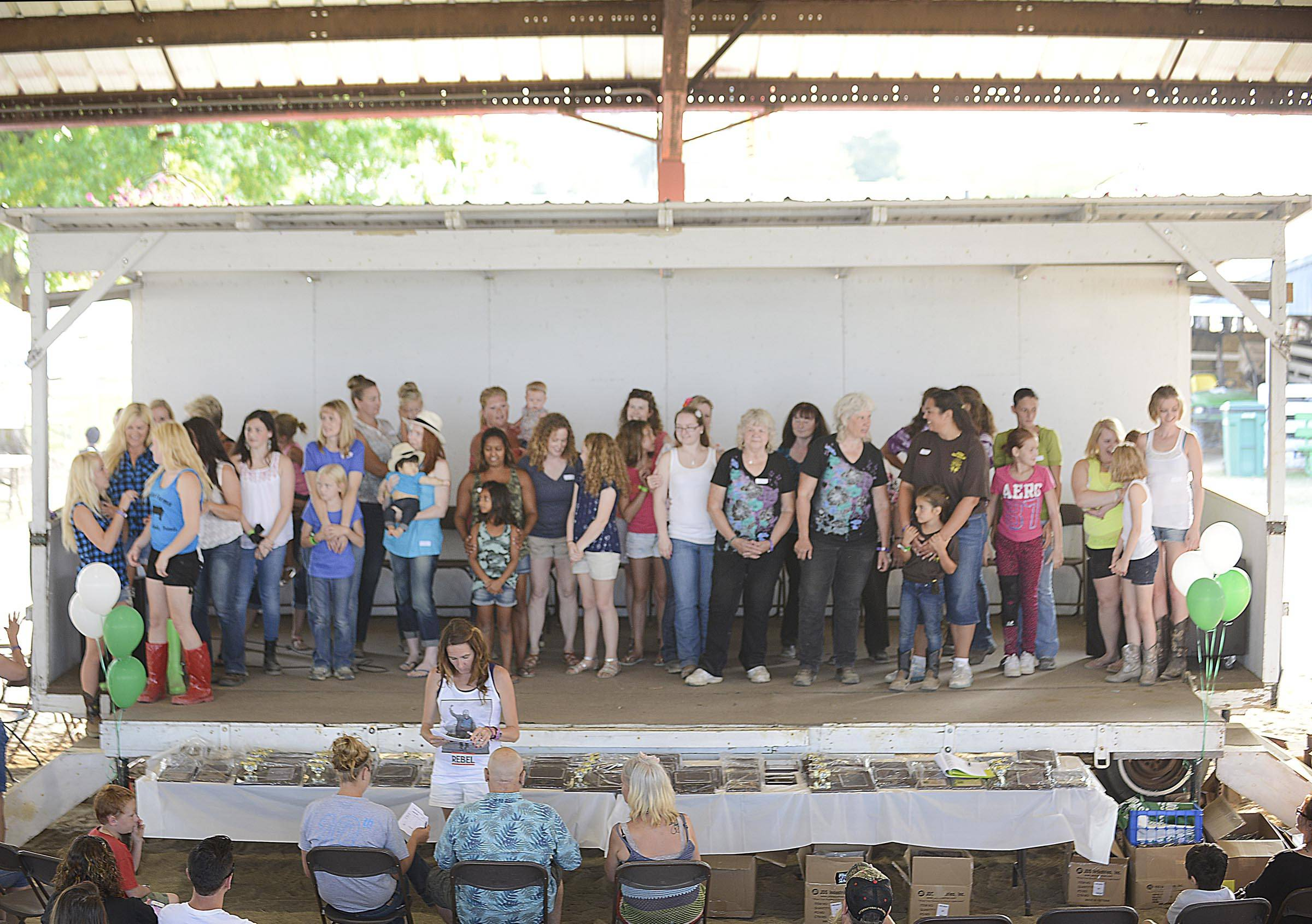 Twenty mothers and daughters competed in the Mother/Daughter Look-ALike contest in the Hansen Pavilion Thursday at the McHenry County Fair in Woodstock.