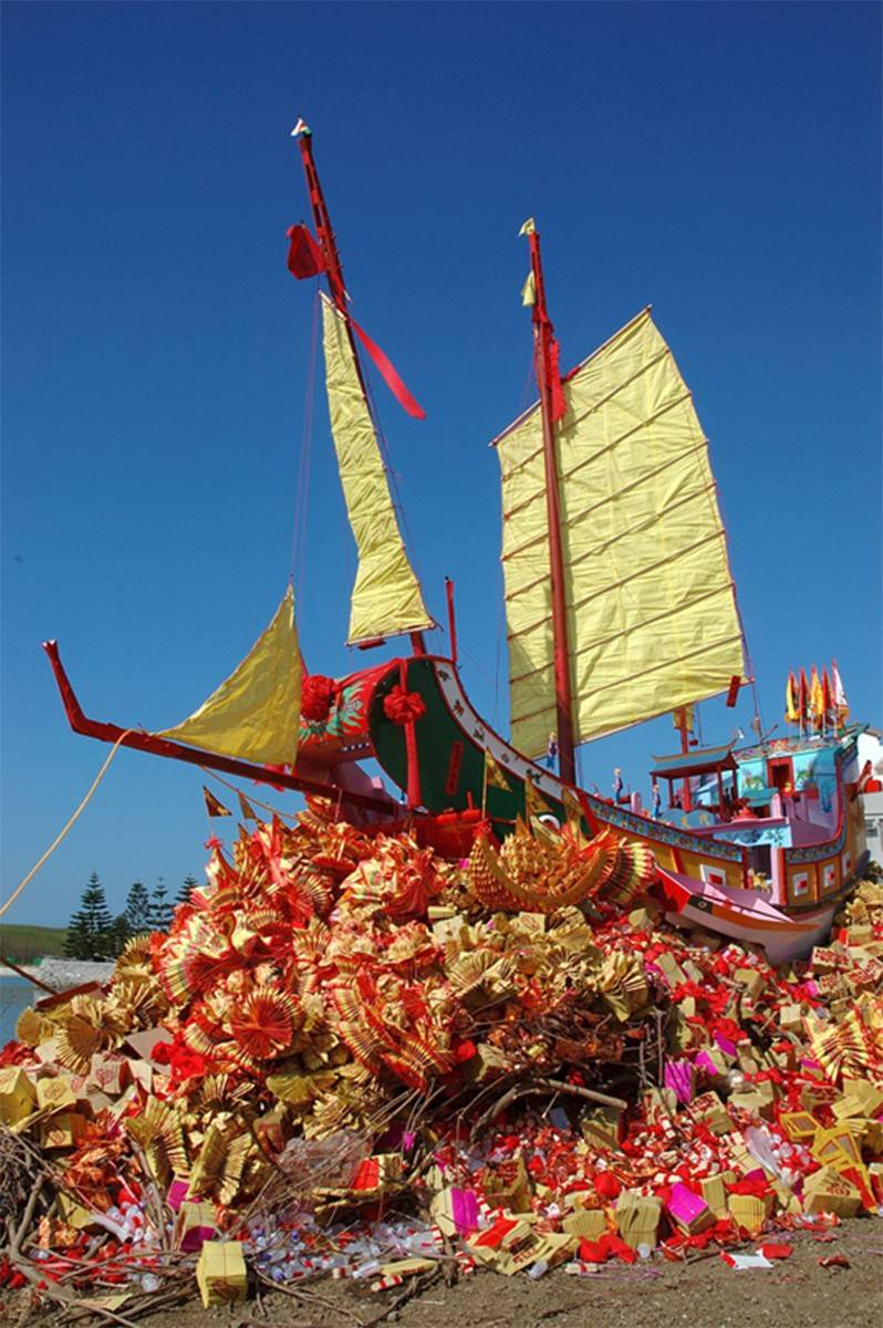 """The Eternal Treasure Ship"" is ready to set sail after 10 years of protecting a village. This photo by Chang Yung-Chieh is part of the ""Light and Shadow"" exhibit on display at the Bartlett Village Hall Art Gallery."