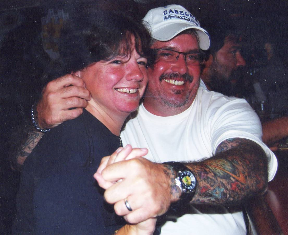 Amy Thier and her husband, Leo Thier, in 2012. Amy was struck and killed by a Metra train Thursday evening while riding her bicycle in Des Plaines.