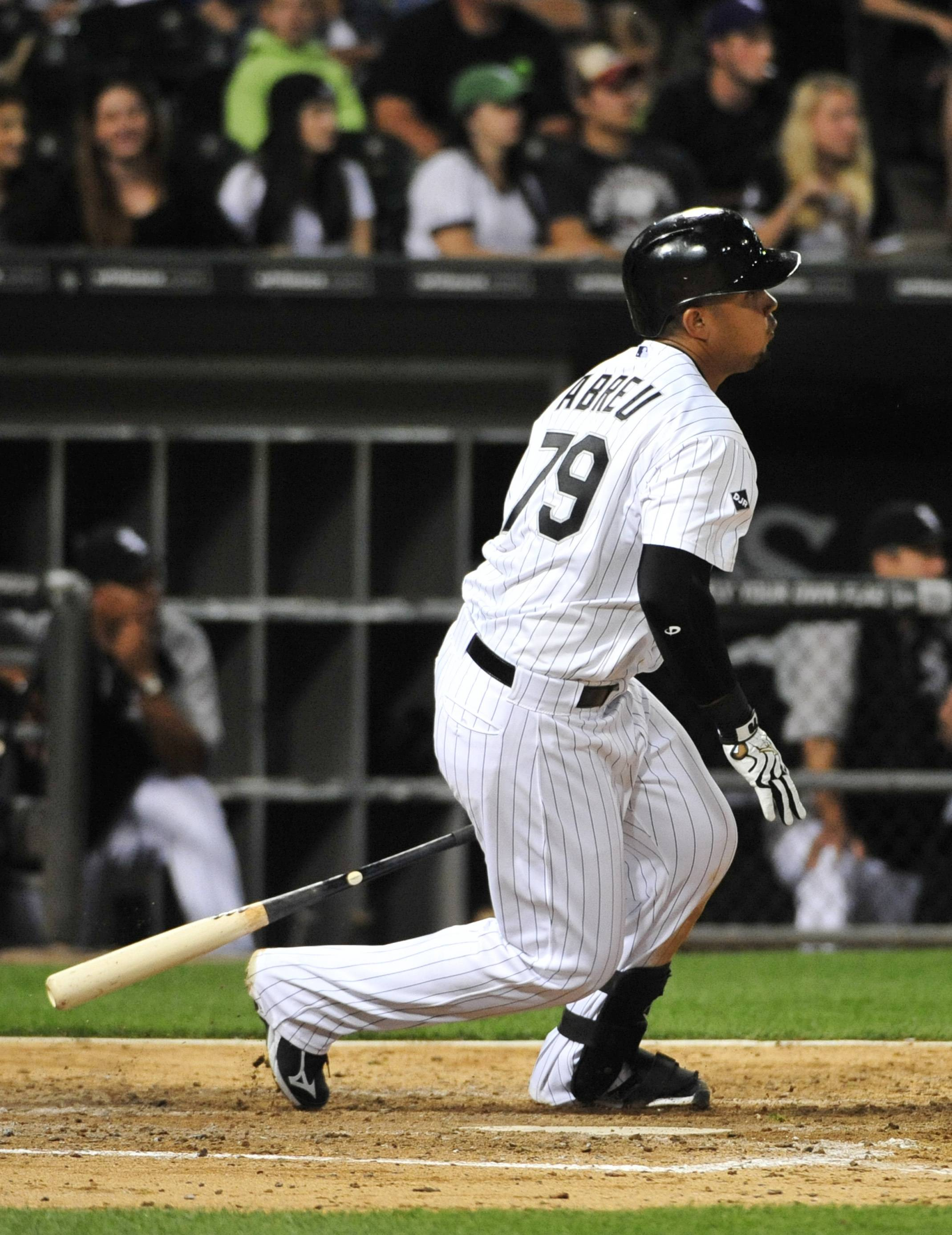 The White Sox's Jose Abreu reached base five times, extending his hitting streak to 21 games, during Friday night's game against the Minnesota Twins. The Sox beat the Twins 10-8 at U.S. Cellular Field.