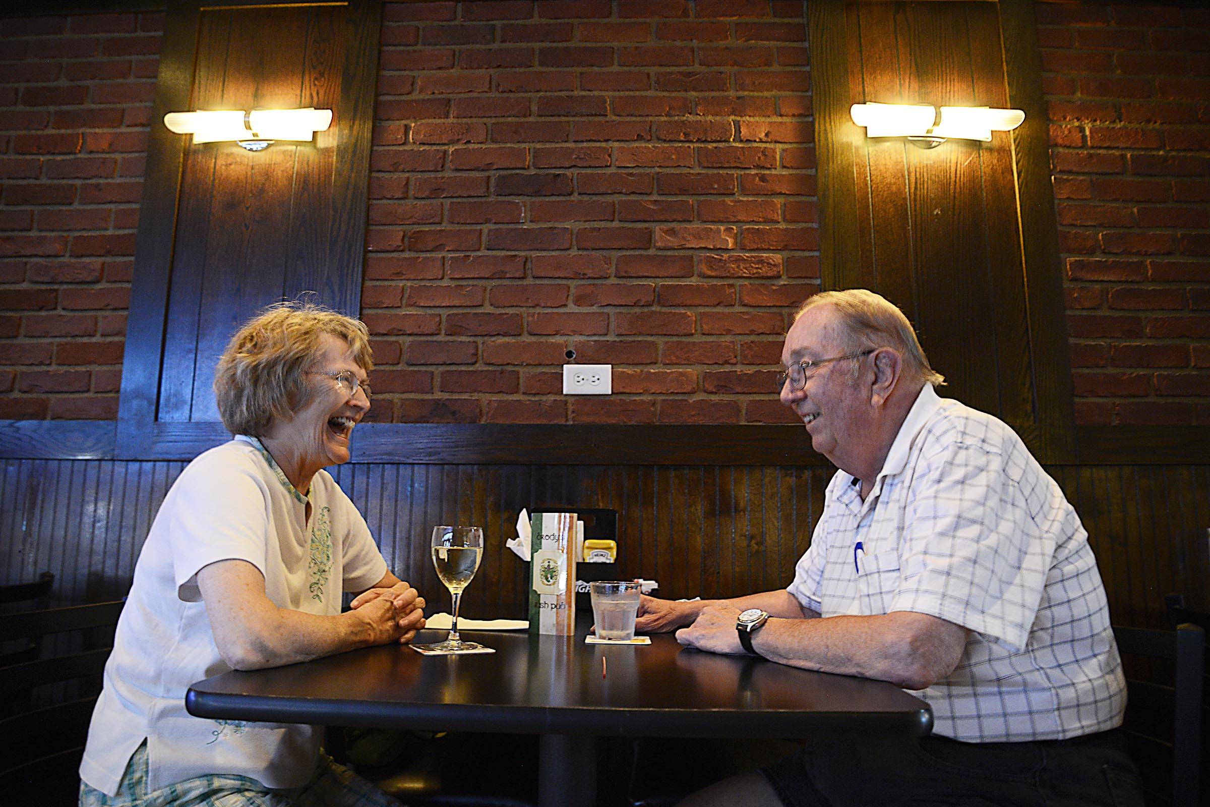 Chuck and Denese Thulin, of Aurora, enjoy a night out at Brody's Irish Pub in Aurora.