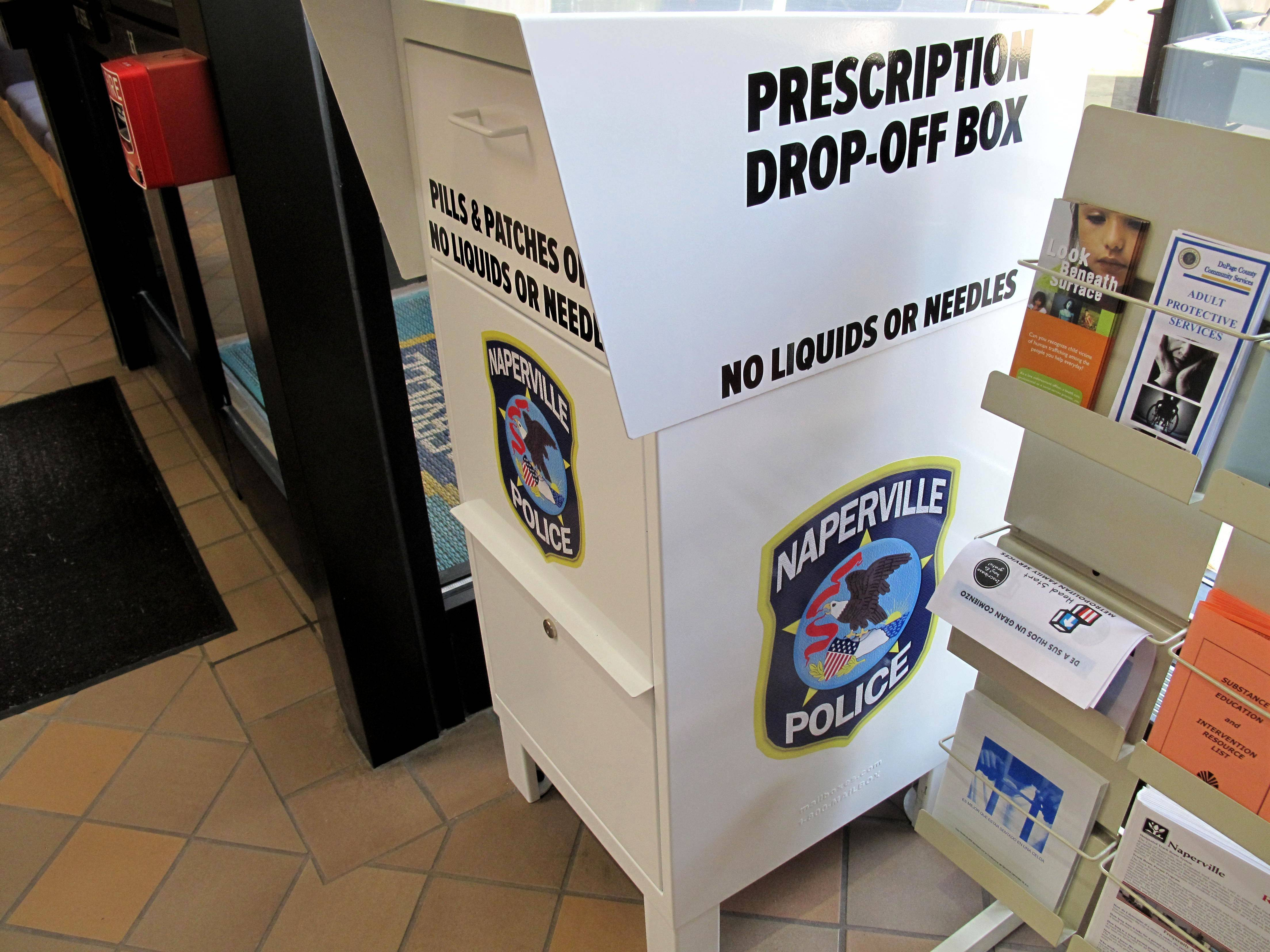 Naperville's police and fire departments already offer 11 prescription drop-off boxes, but on Tuesday, they also will be accepting unwanted drugs at 37 National Night Out events across the city.