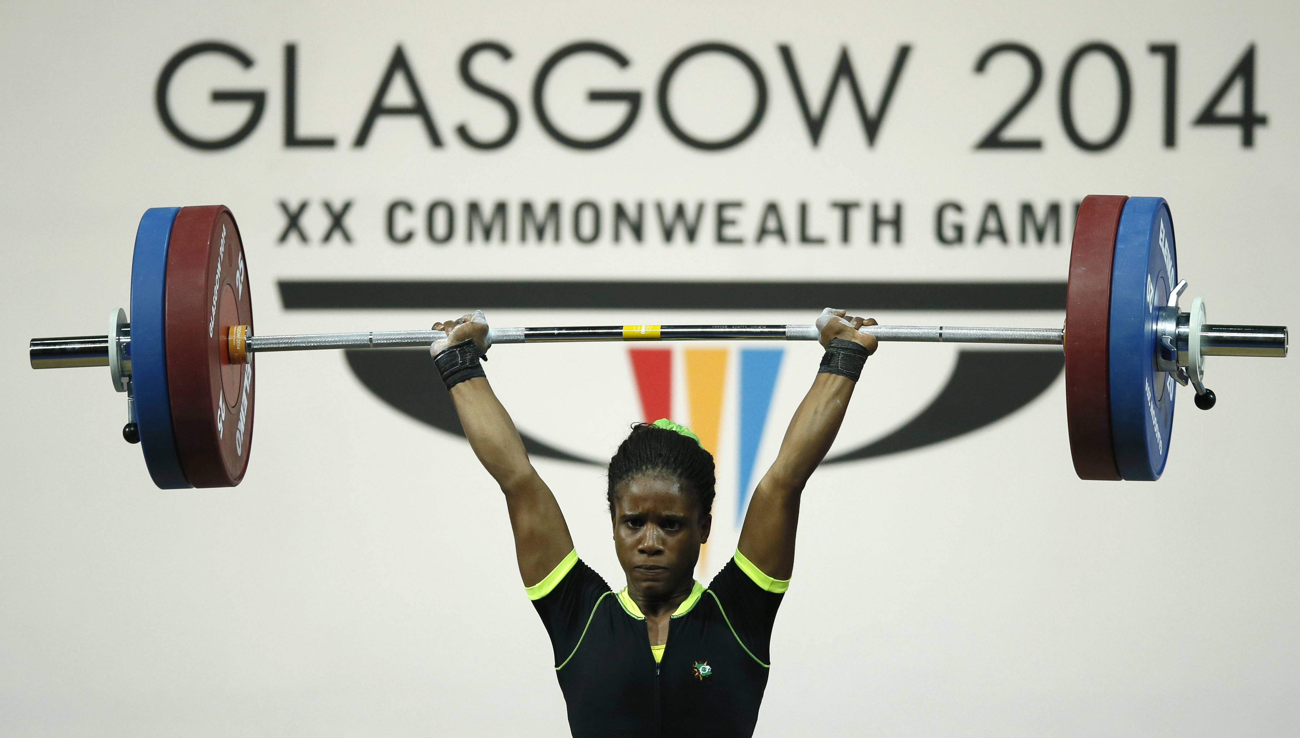 Chika Amalaha of Nigeria won the gold medal in the women's 53 kg weightlifting competition at the Commonwealth Games Glasgow 2014, but she failed a doping test and has been provisionally suspended from the games. Commonwealth Games Federation chief executive Mike Hooper said Tuesday July 29, 2014 that Amalaha tested positive for diuretics and masking agents after being tested on July 25.