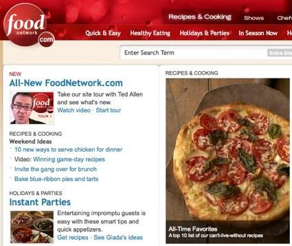 The Food Network's recipe finder taps into the knowledge of the channel's resident chefs such as Alton Brown or Giada De Laurentiis, and lets you look at, save and make shopping lists from their recipes.