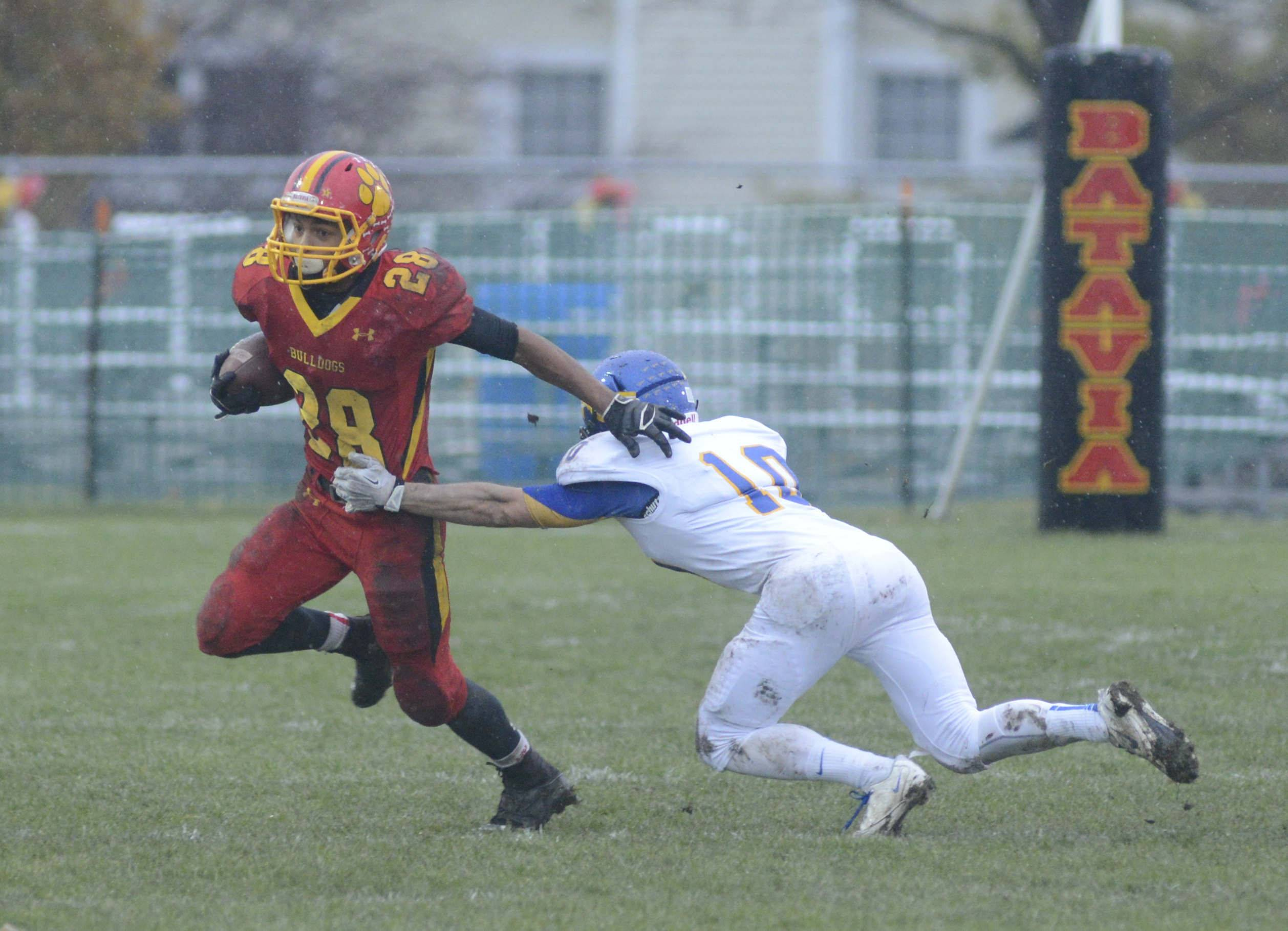 Batavia District 101 is considering borrowing money to do building and grounds work at its schools, including installing artificial turf at the high school stadium.