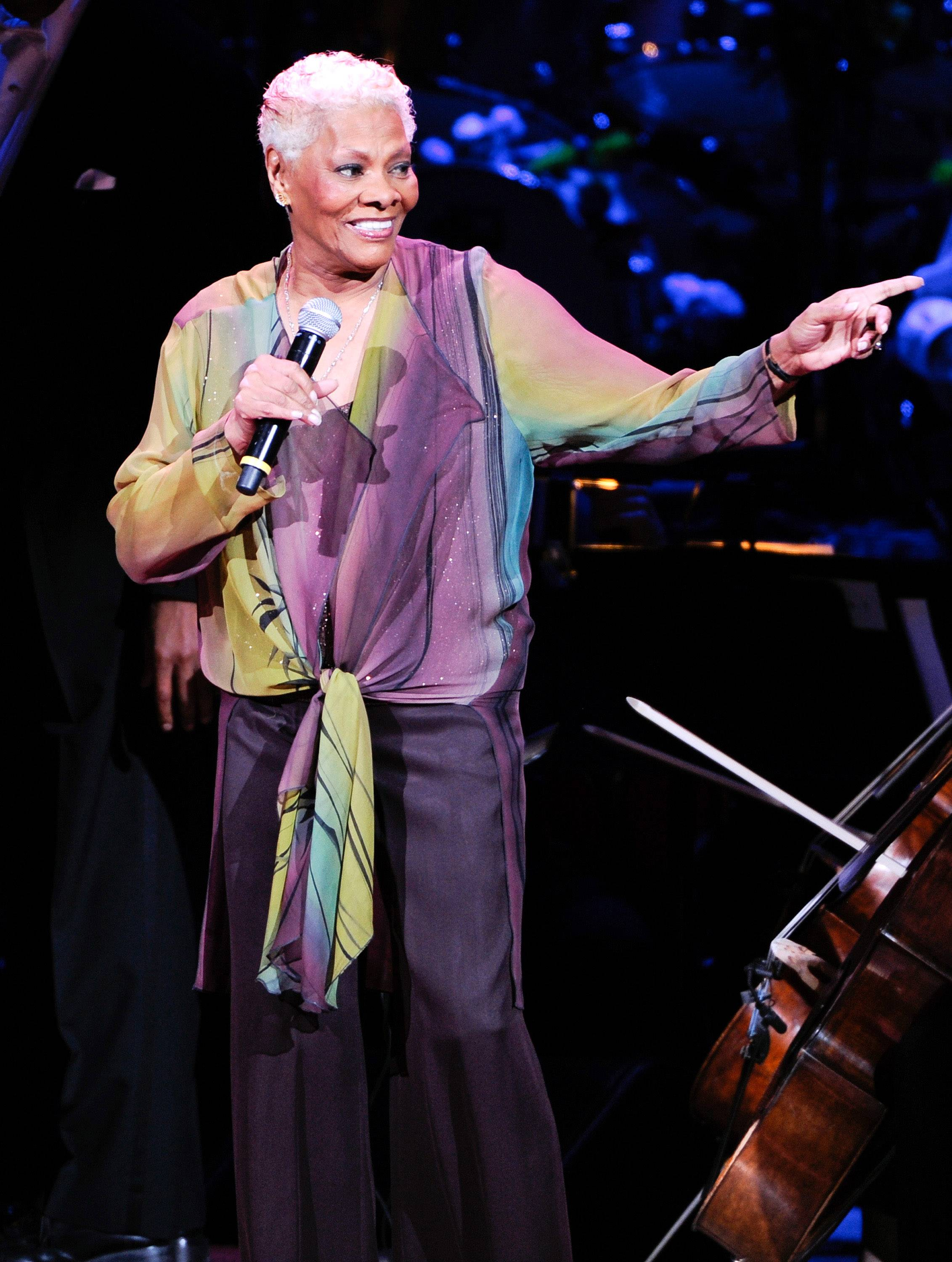 "Singer Dionne Warwick performs at the 25th Anniversary Rainforest Fund benefit concert at Carnegie Hall in New York. This week Warwick is heading back to San Jose to be dubbed the city's ""global ambassador of goodwill."""