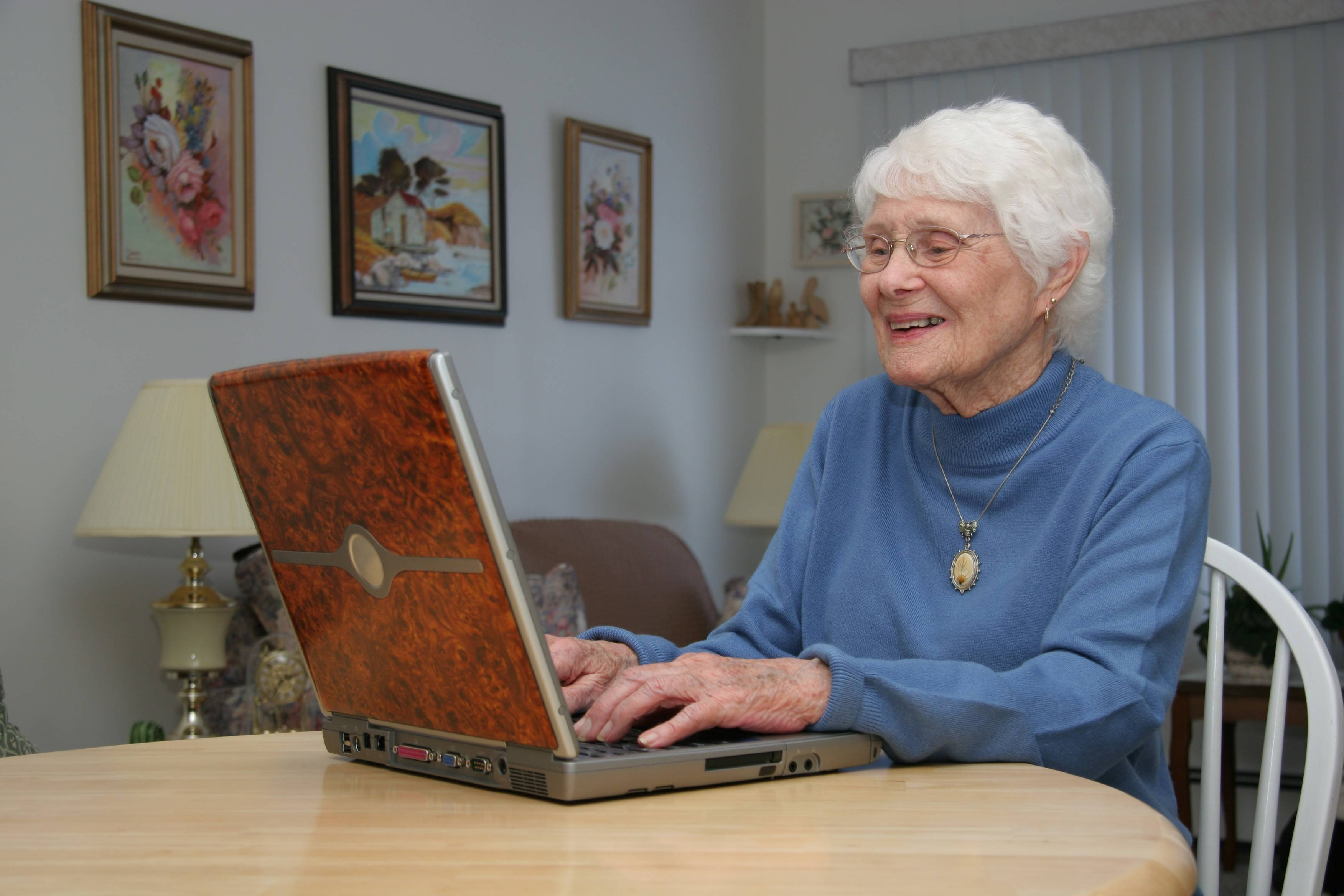 Modern technology makes it easier for adult children to stay connected with aging parents.