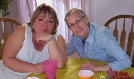 Debbi Campbell of Mount Prospect, left, with her mother, Lena Lobb, who lived in Kentucky. Despite living far away, Campbell handled many of her mother's affairs before Lobb passed away recently.