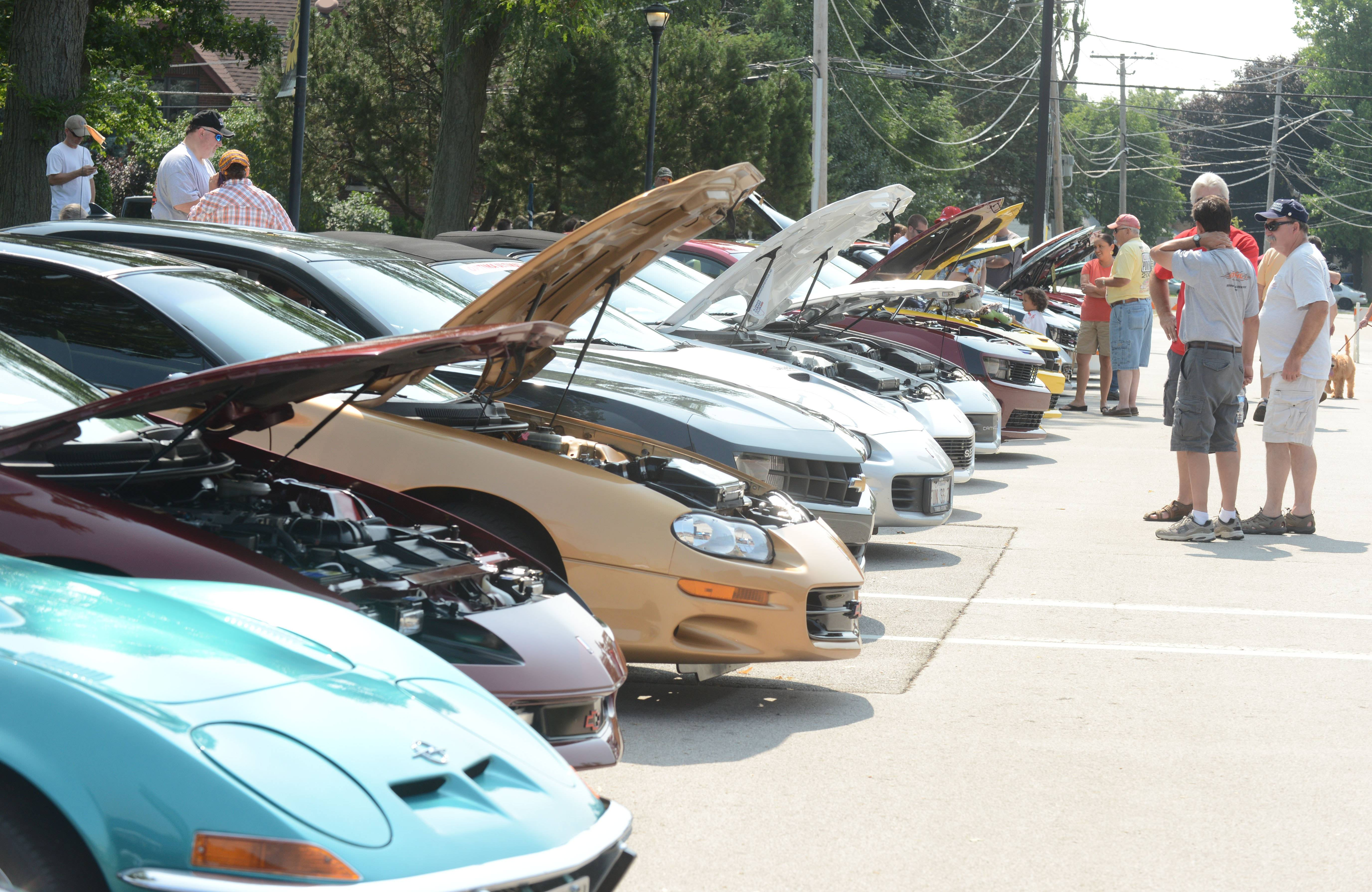 The Summer Daze car show in Warrenville attracted more than 50 cars and bikes to the streets of the town. Food and music was also available later in the evening.