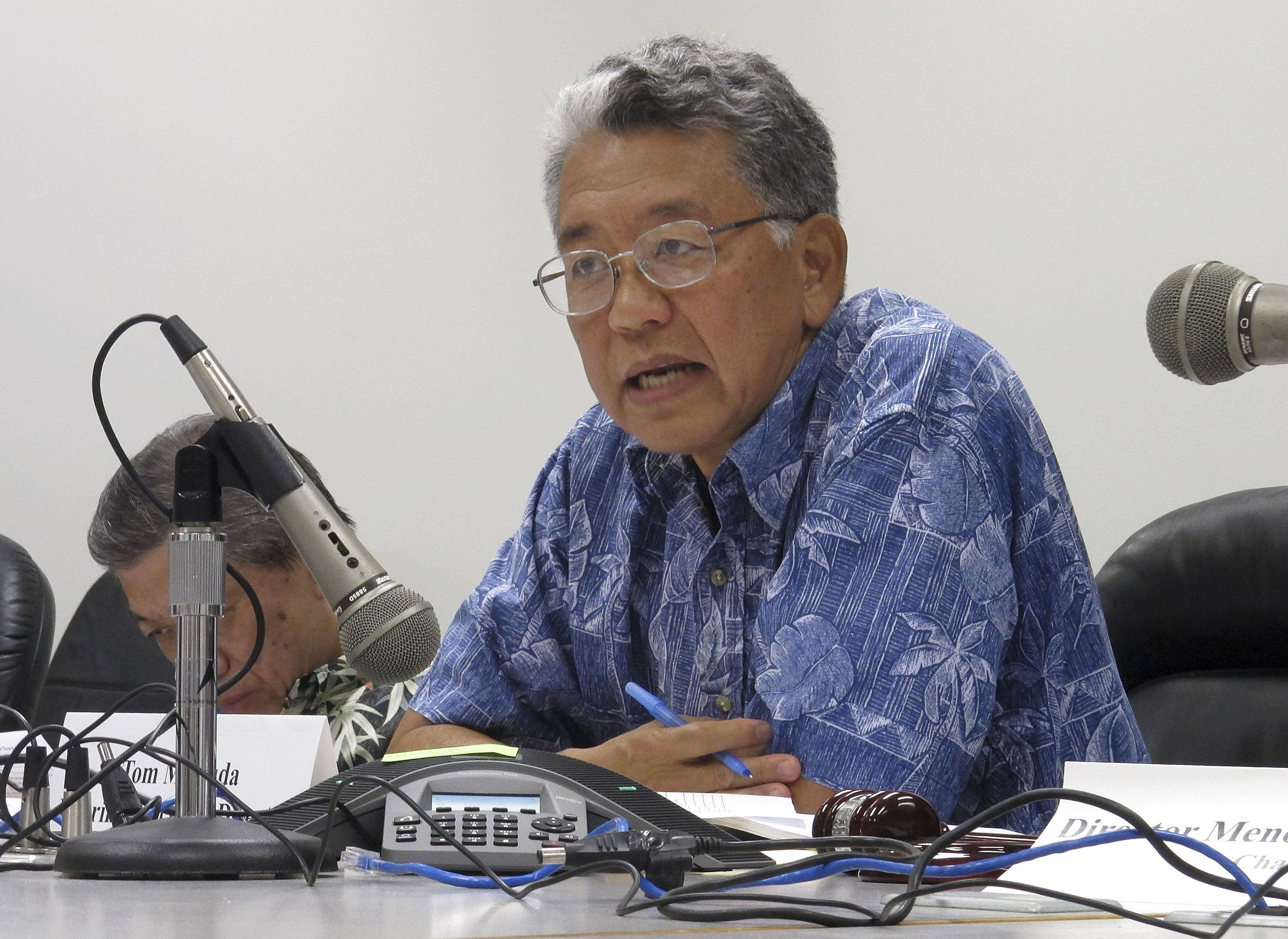 Tom Matsuda, interim executive director of the Hawaii Health Connector, the state's health insurance exchange, speaks at board meeting in Honolulu. The state's Prepaid Health Care Act _ the only law of its kind in the country — risks being undercut by the federal health care overhaul unless lawmakers come up with a solution to a financial problem threatening the system.