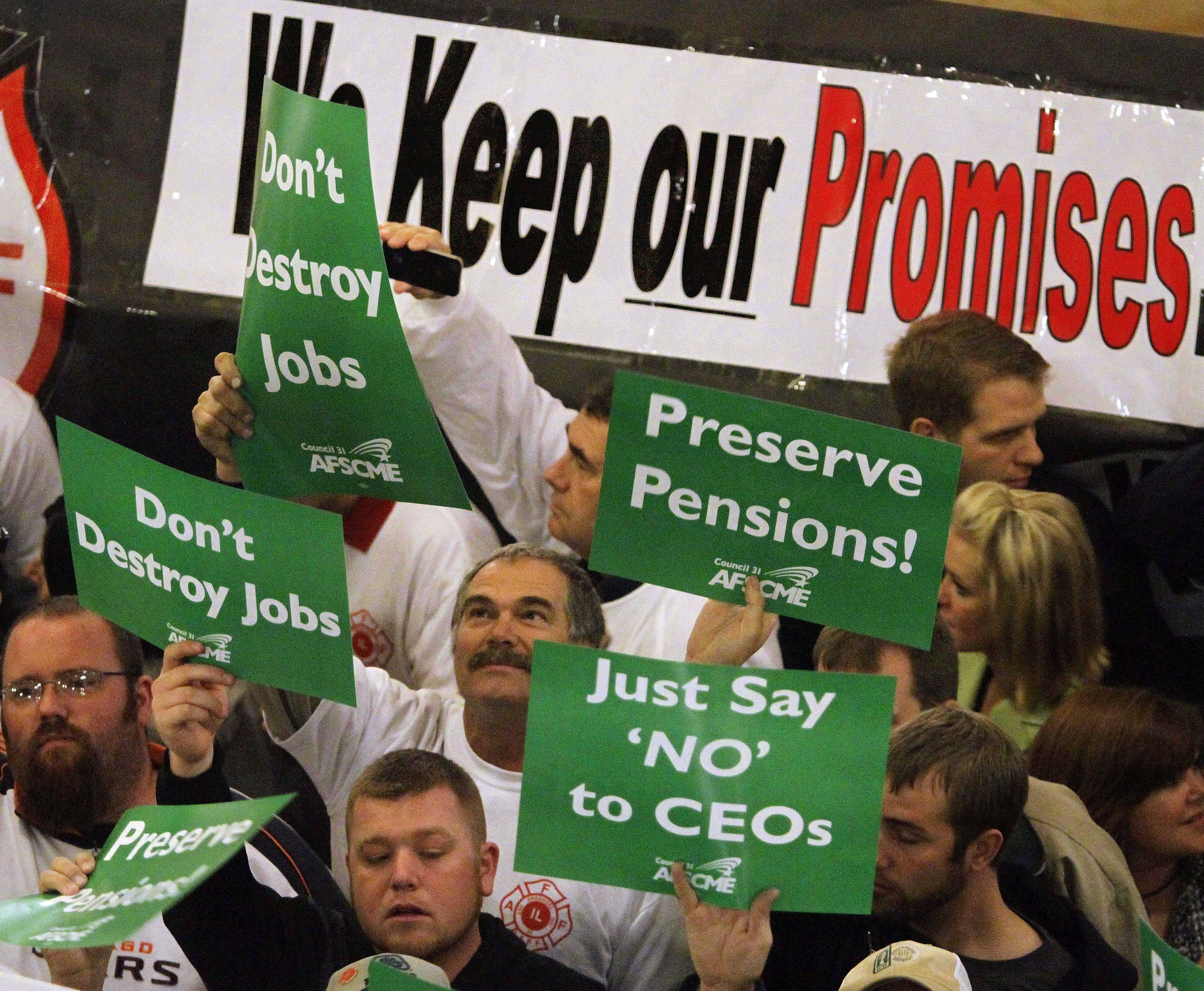 ASSOCIATED PRESSThe pension crisis that resulted in protests such as this in Springfield by teachers and government workers is just one of the issues affecting the public's lack of faith in Illinois government. A history of corruption, a dismal climate for work and business, and political bickering are all reasons Illinoisans give for wanting to live elsewhere.