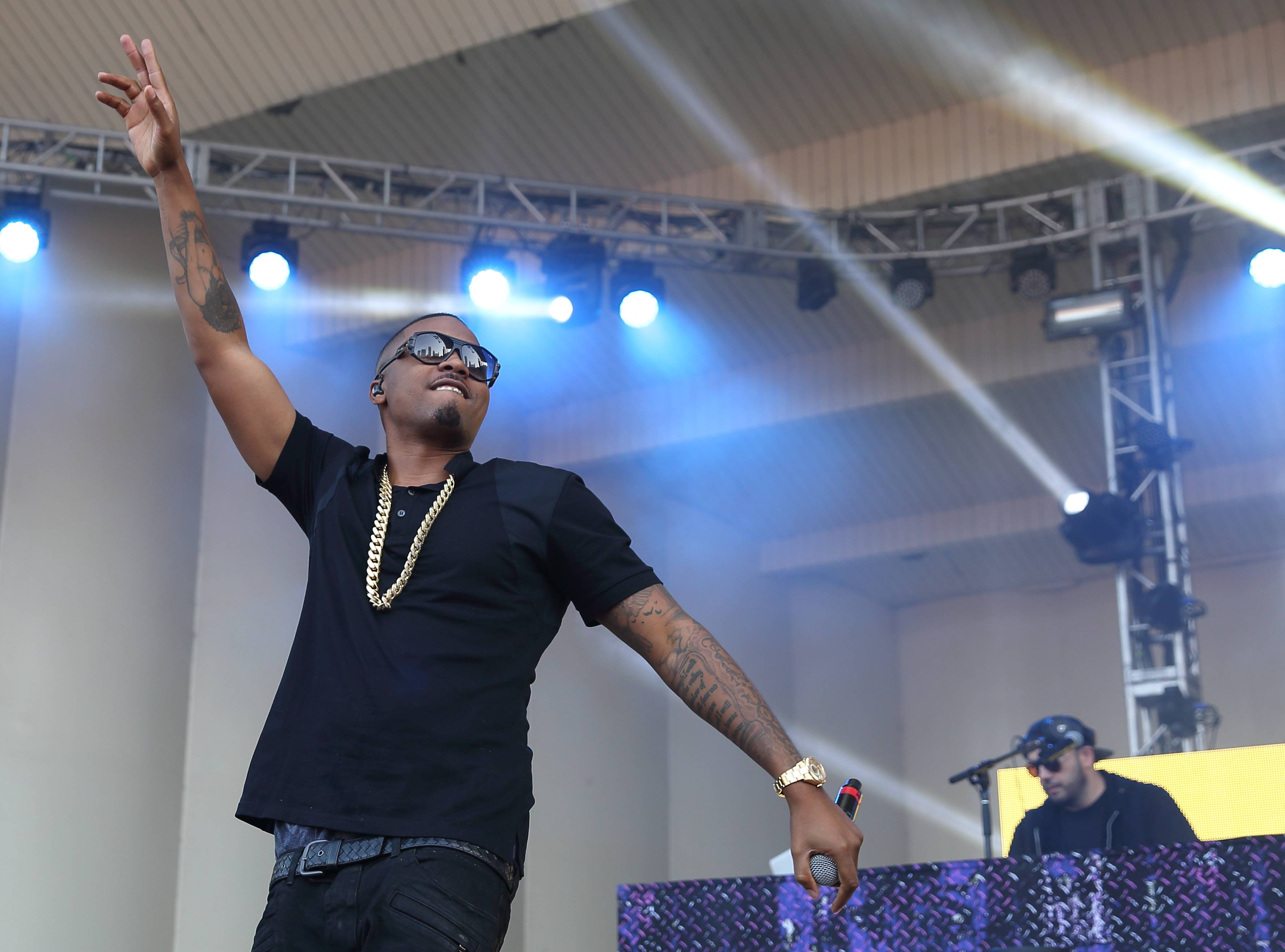 Nas performs Saturday at Lollapalooza in Chicago's Grant Park.