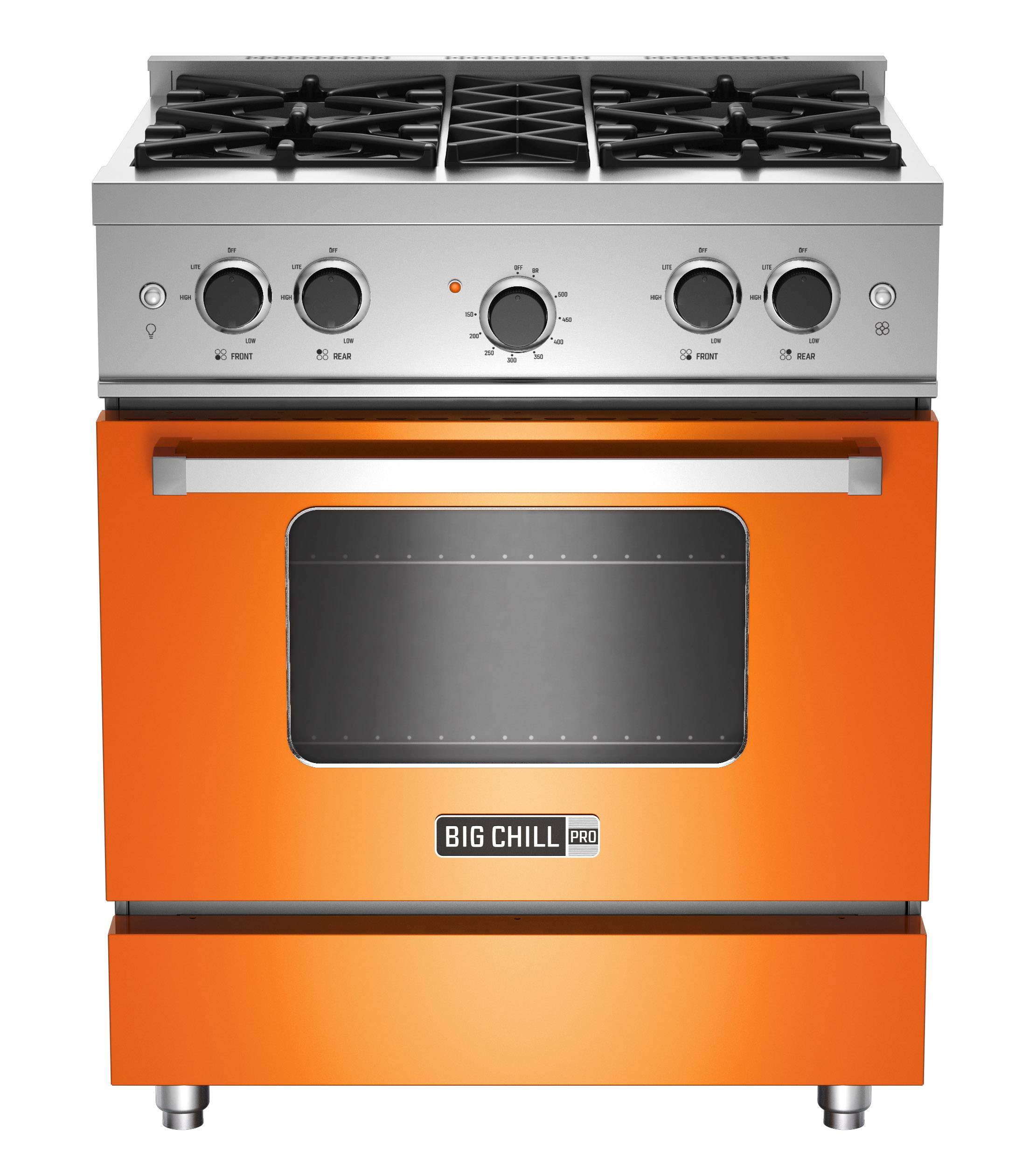 With strong color trending in kitchens, Big Chill's vibrant hues in fridges, ovens and ranges -- like this one in orange -- hit the style mark. As a pop of color in an otherwise low key kitchen, or as part of an overall exuberant space, appliances like these, particularly with some retro details, stand out from the standard stainless offerings.