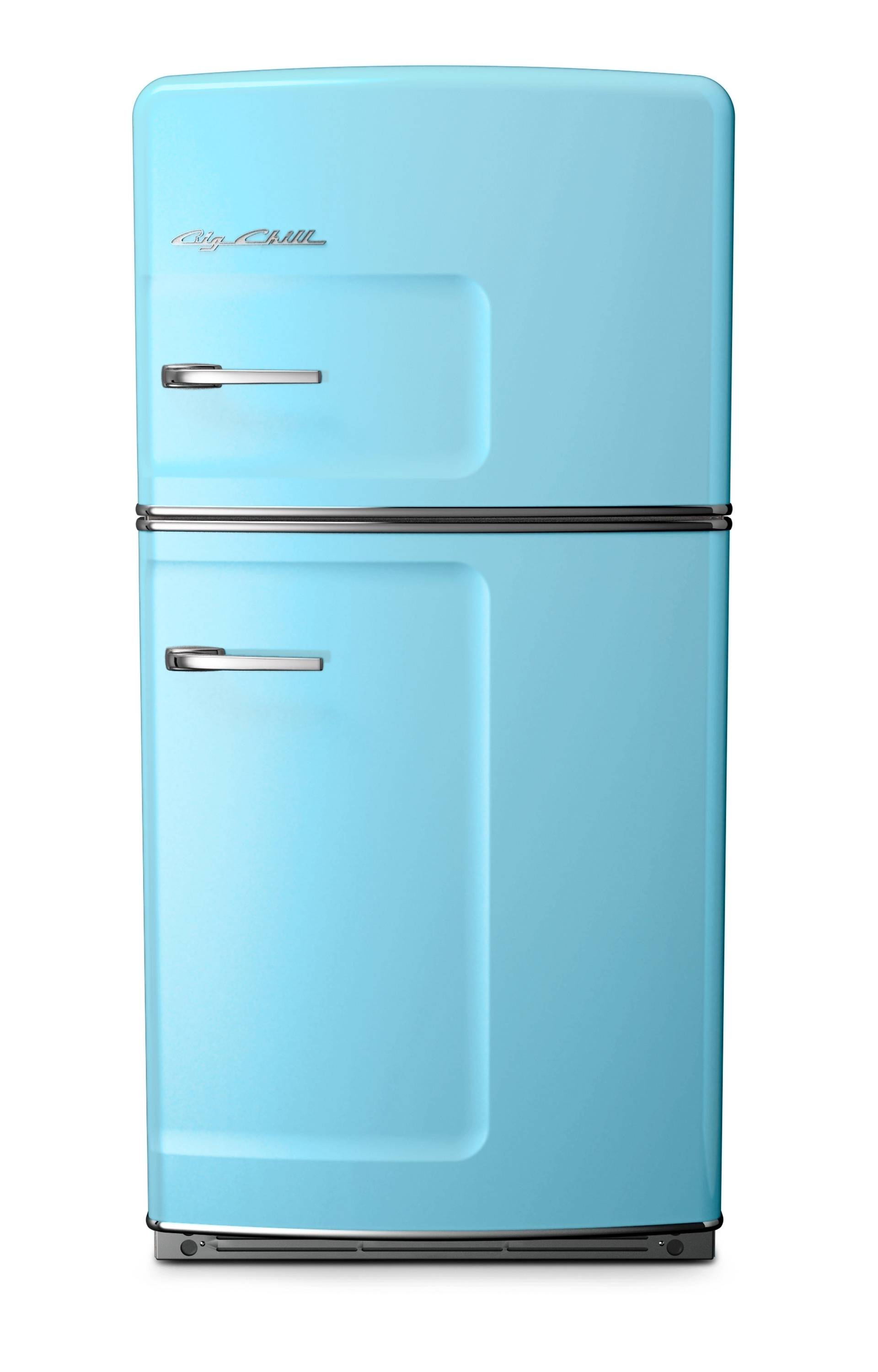 With strong color trending in kitchens, Big Chill's vibrant hues in fridges -- like this one in beach blue -- ovens and range hoods hit the style mark. As a pop of color in an otherwise low key kitchen, or as part of an overall exuberant space, appliances like these, particularly with some retro details, stand out from the standard stainless offerings.