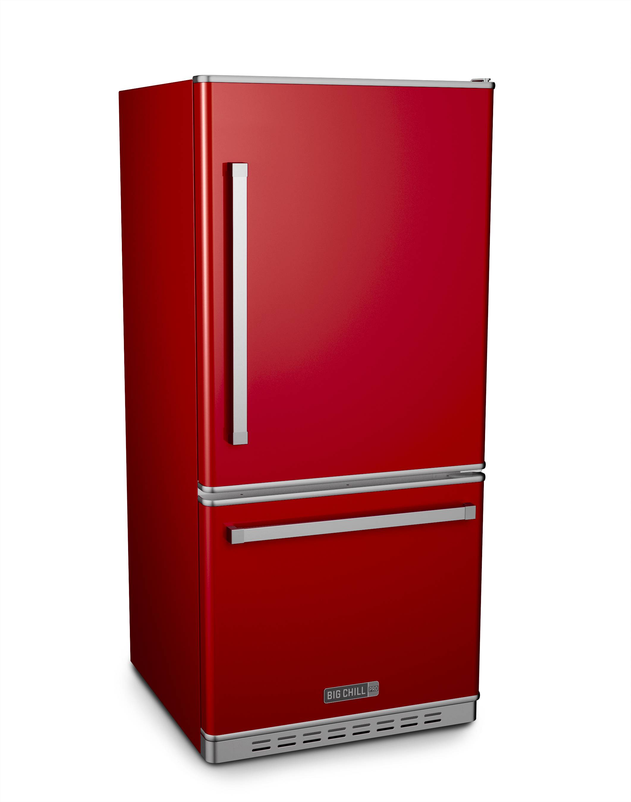 This Pro refrigerator comes in cherry red from Big Chill's new Pro line that offers contemporary style with 12 standard color options.