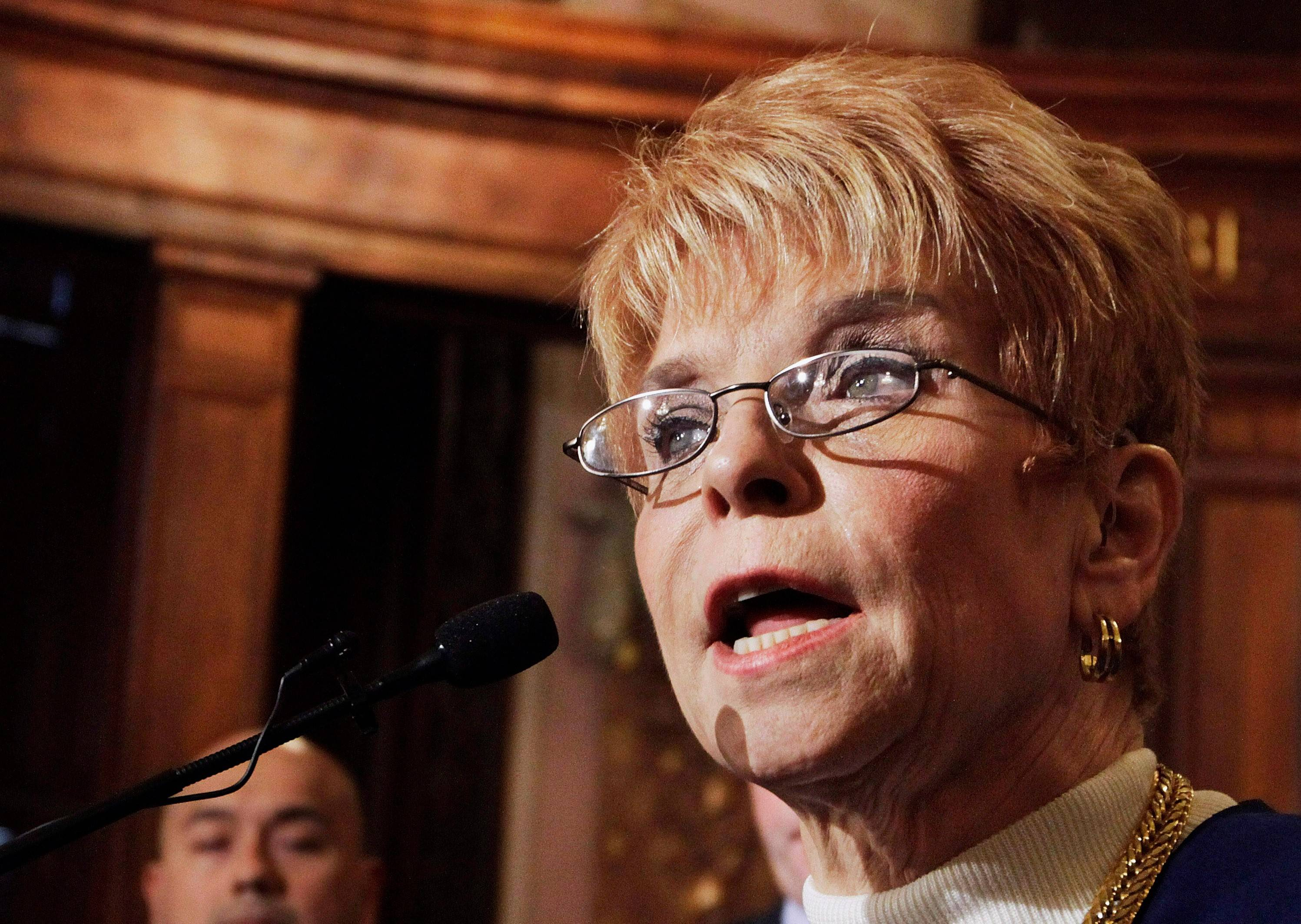 Republican Comptroller Judy Baar Topinka favors merging her office with the state treasurer's.