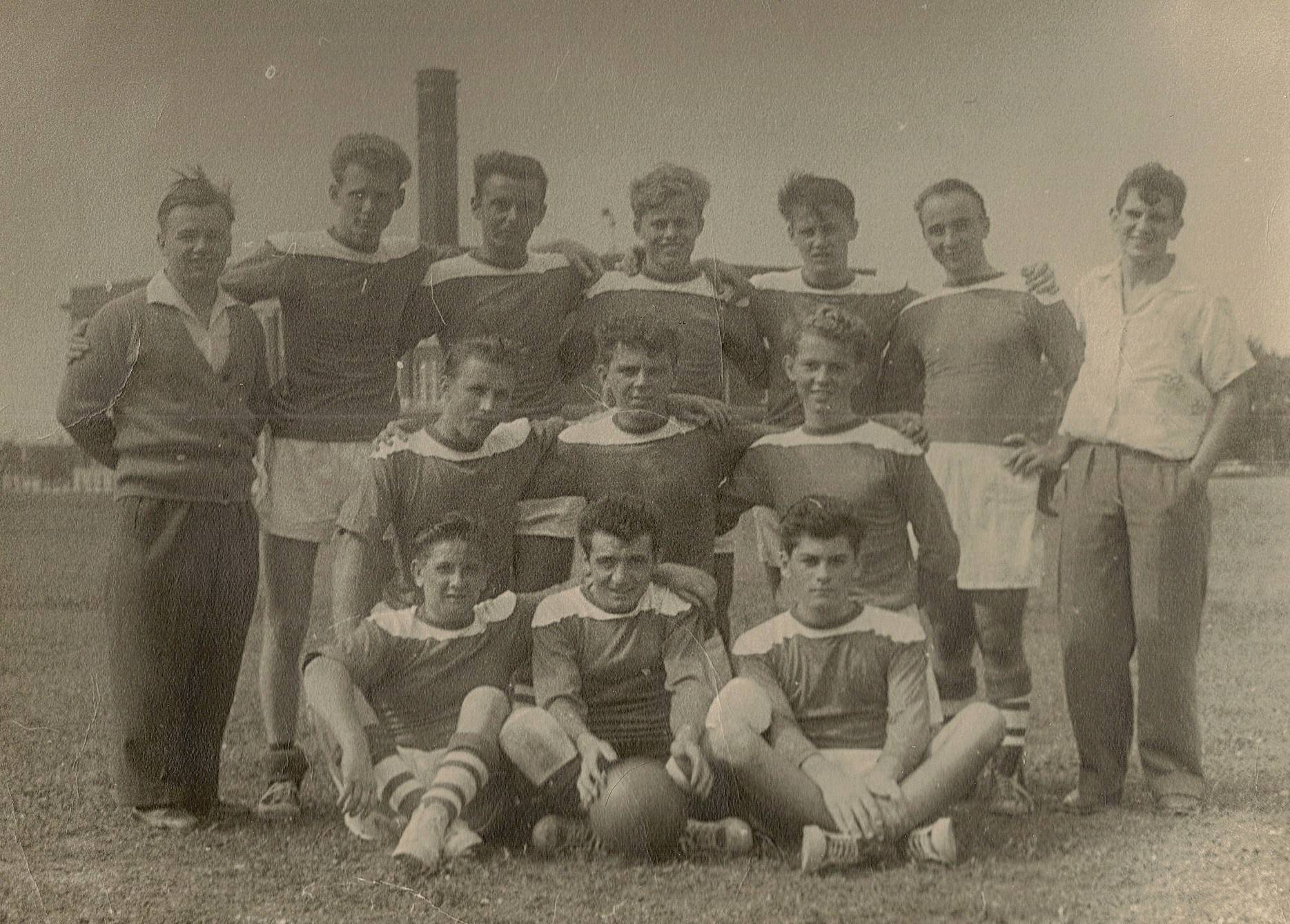 The first Green White soccer team from 1956. After spending about 25 years in Chicago, Green White moved to Mount Prospect in 1982.