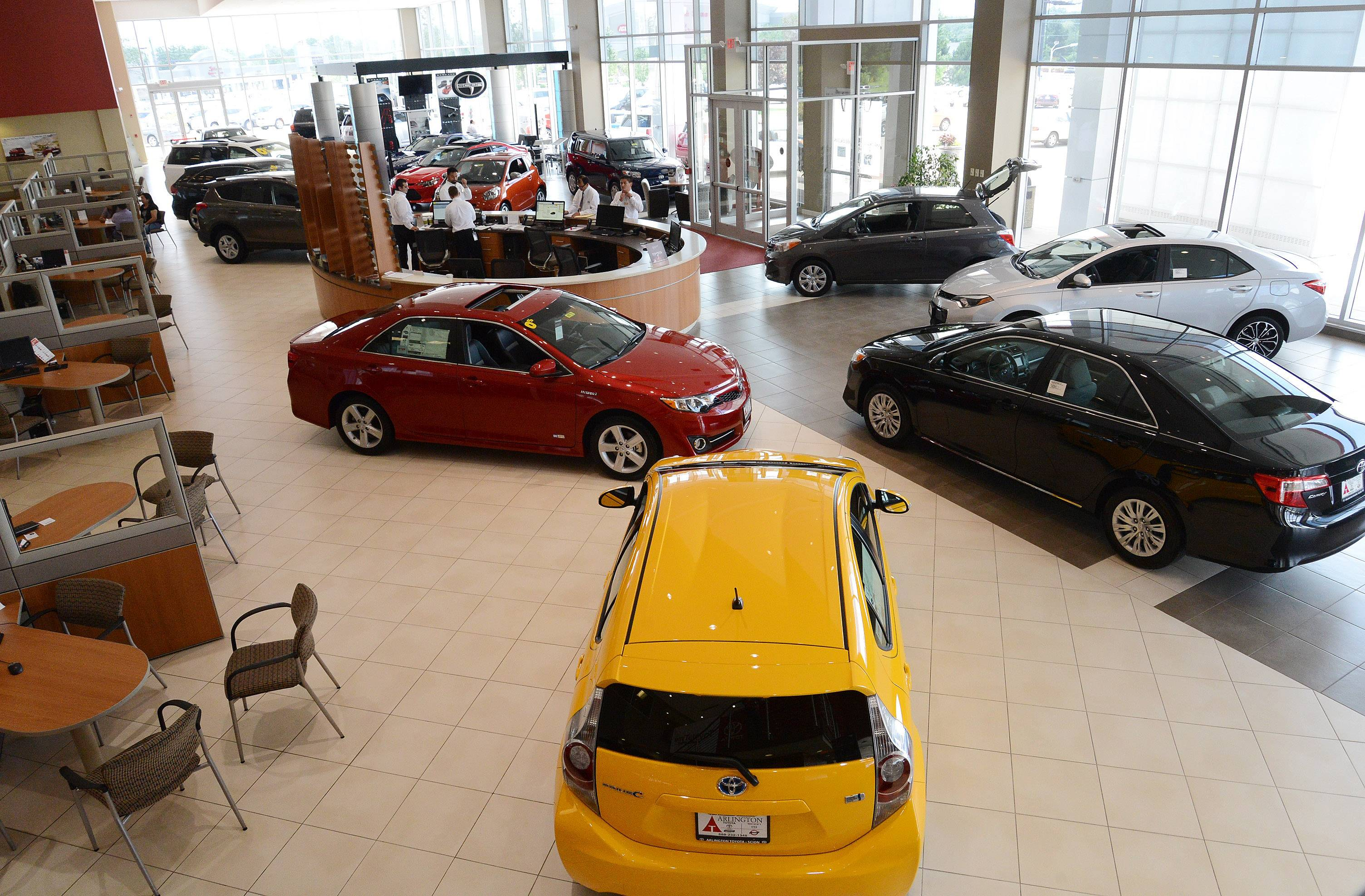 Arlington Toyota/Scion's showroom in Palatine.
