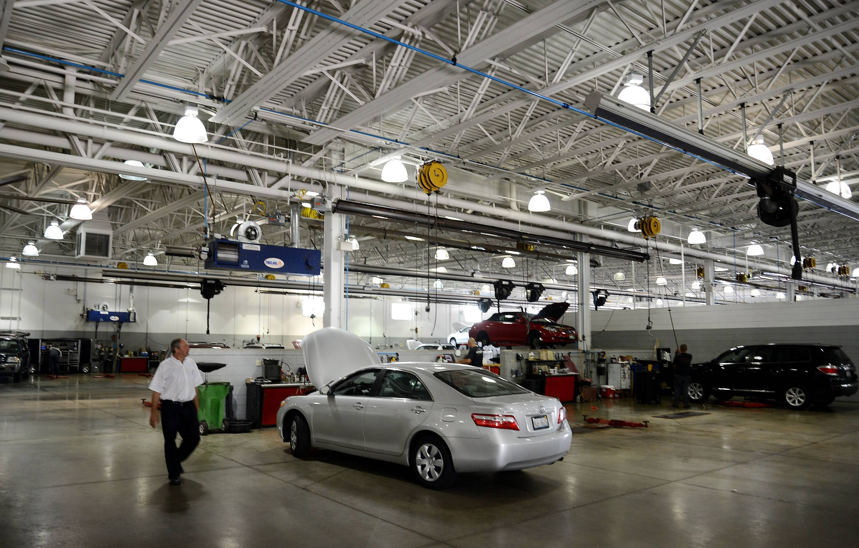 Arlington Toyota/Scion operates a 56-bay service, parts and collision center. Fewer than one-third of new car dealerships offer body shop services.