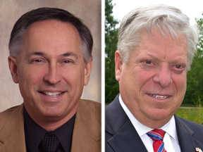 Glenn Ryback, left, and David Stolman are candidates for Lake County treasurer.