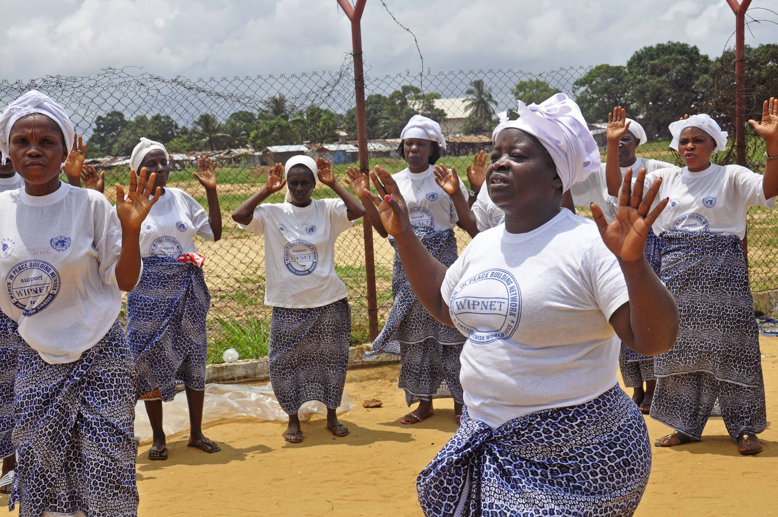 Women from different religious groups in Monrovia, Liberia, pray Saturday against the spread of the Ebola virus. An Ebola outbreak that has killed more than 700 people in West Africa is moving faster than efforts to control the disease, the head of the World Health Organization warned as presidents from the affected countries met Friday in Guinea's capital.