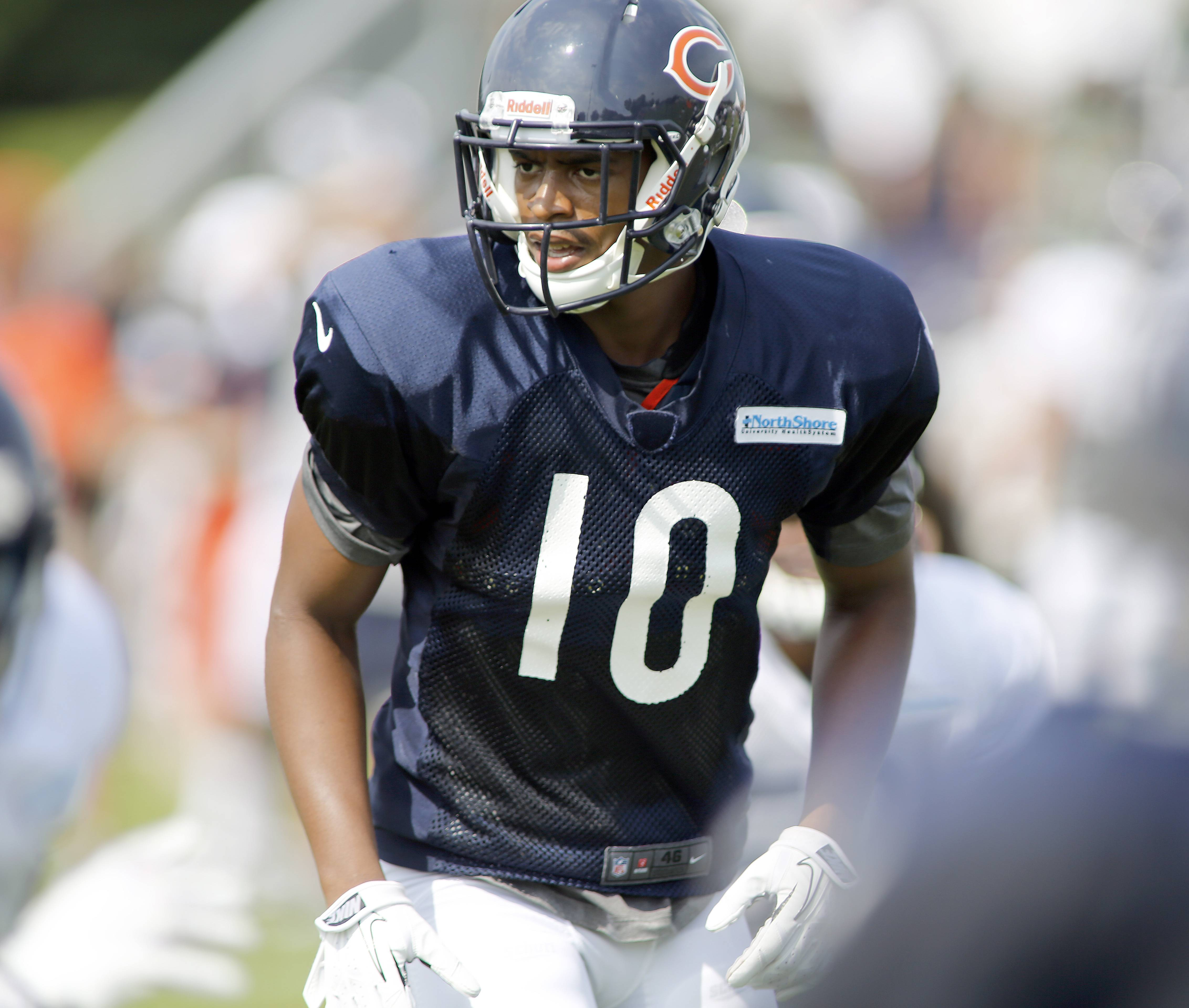 Chicago Bears wide receiver Marquess Wilson was in position to win a spot as the No. 3 wide receiver until he fractured a clavicle in practice on Monday.