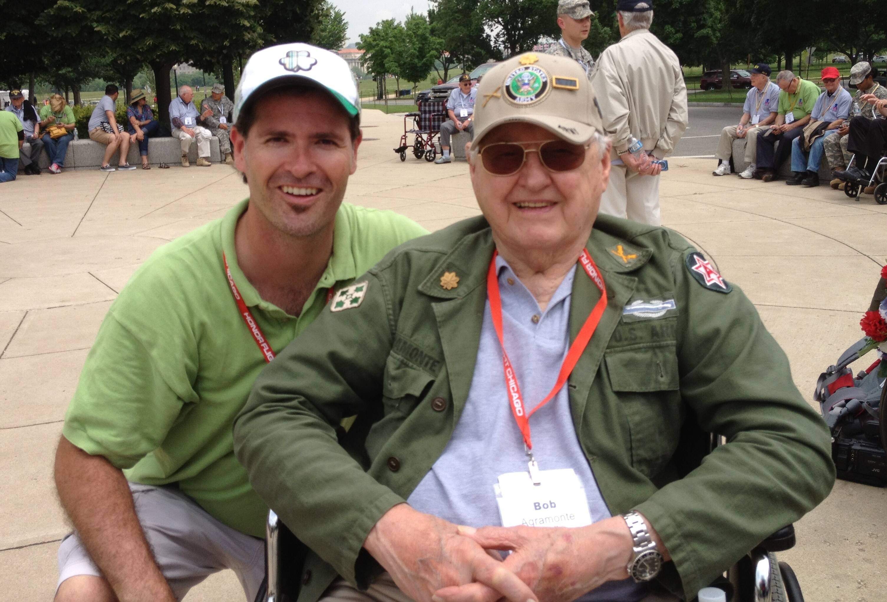 Pictured: Kevin Willman (left) with WWII veteran Bob Agramonte.